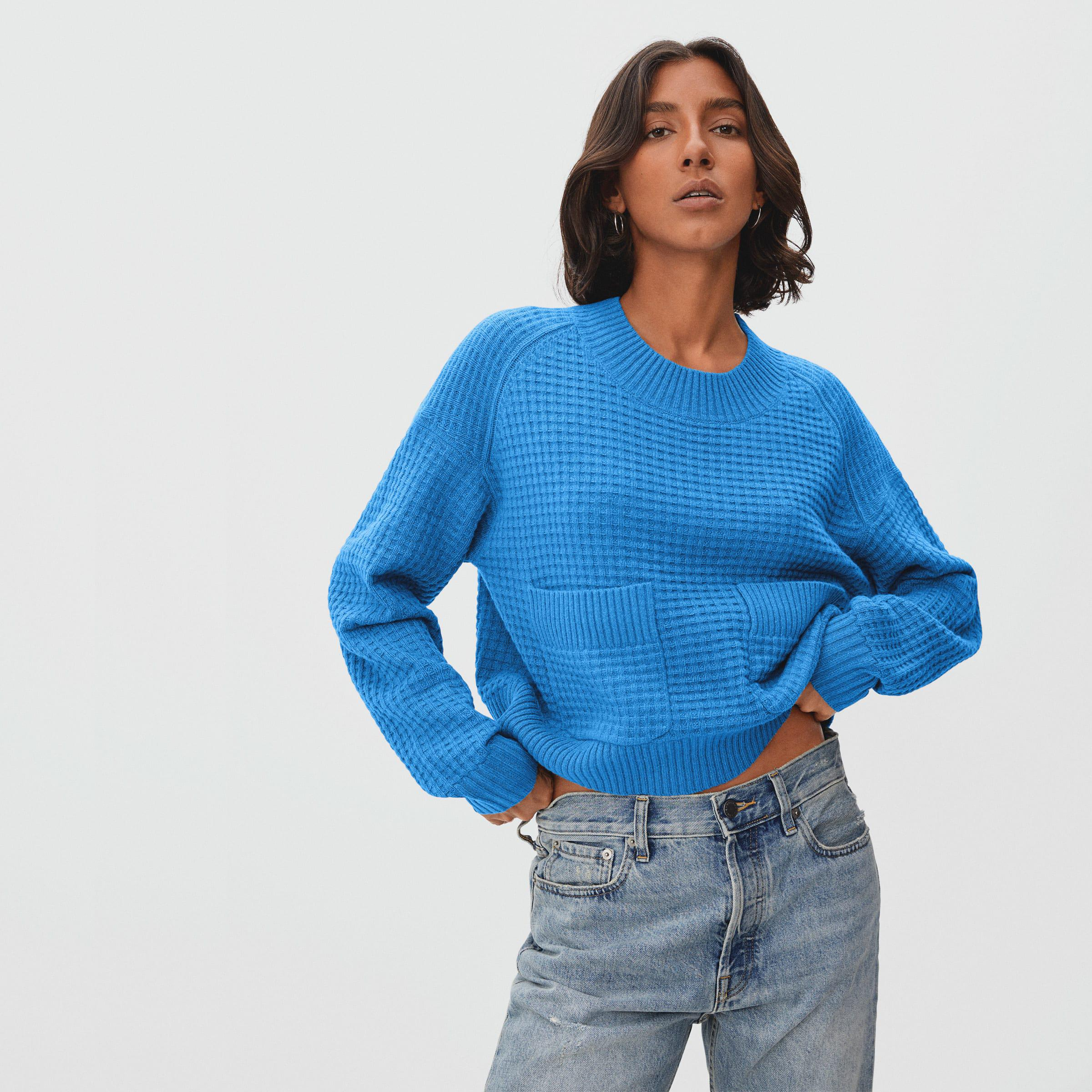 The Belgian-Waffle Pocket Pullover in ReCashmere