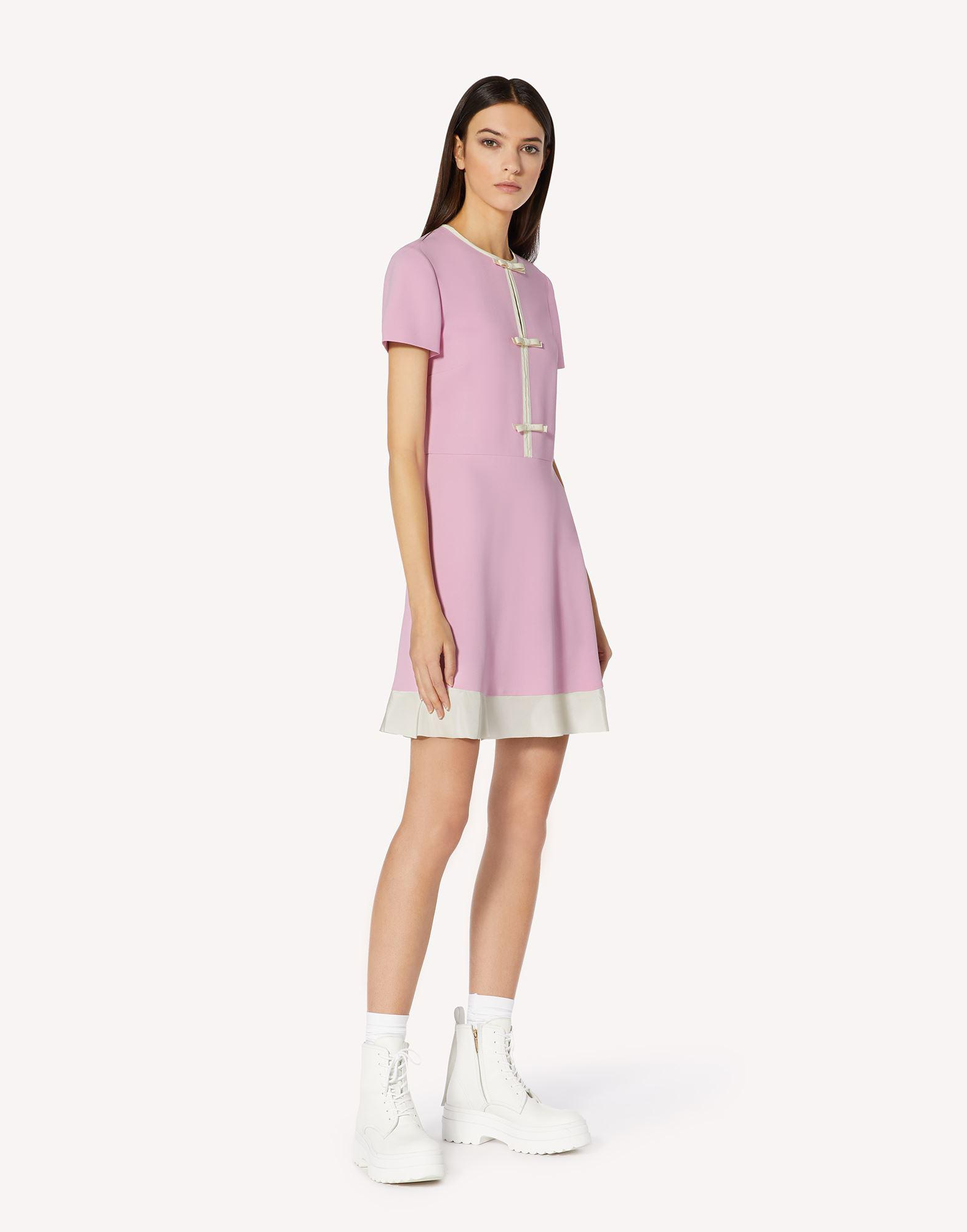STRETCH FRISOTTINE DRESS WITH BOW DETAILS 2