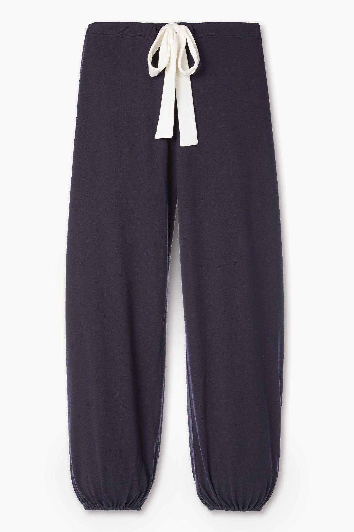 Heather Cotton Blend Cropped Pant 3