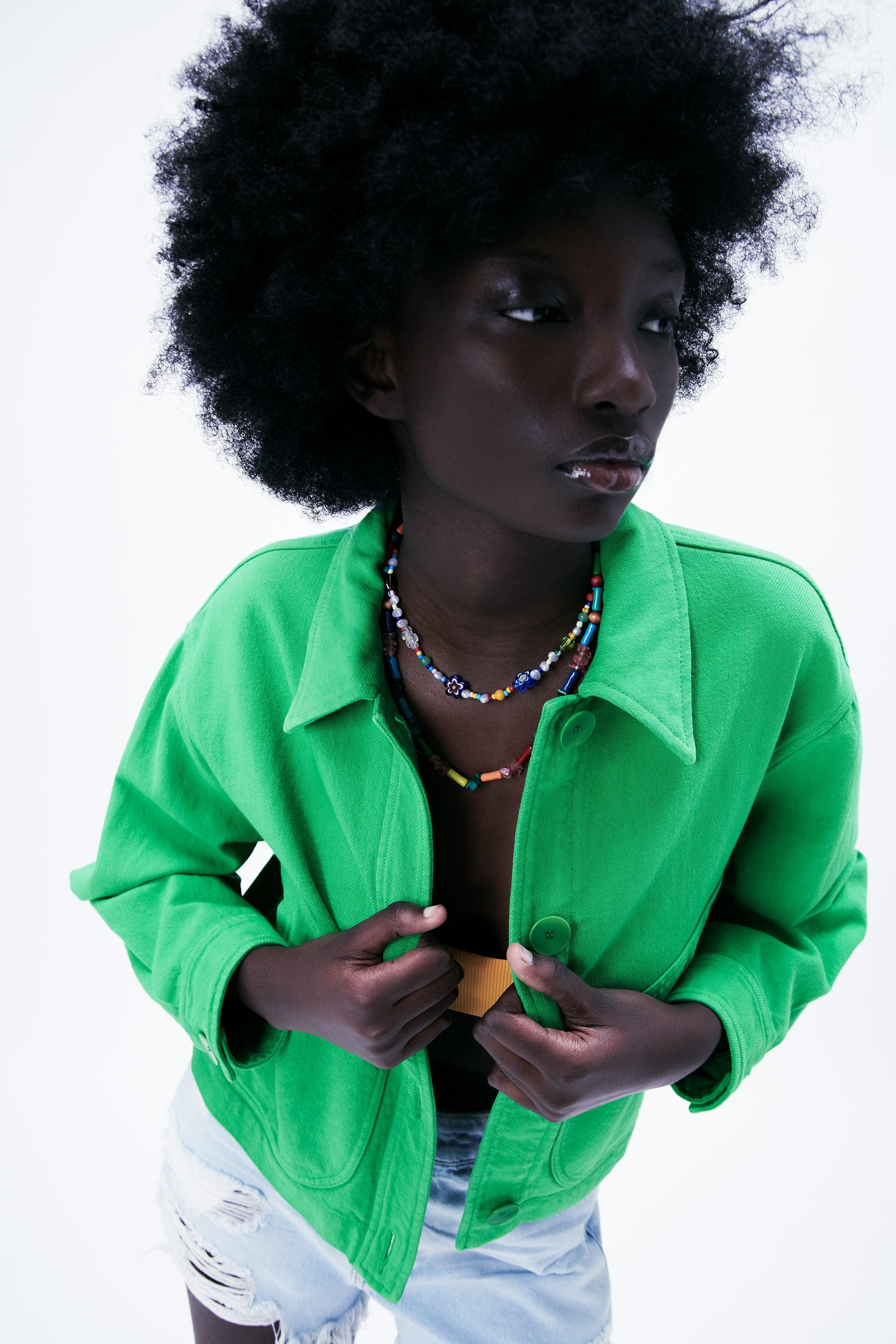 SOLID COLOR CROPPED JACKET 2