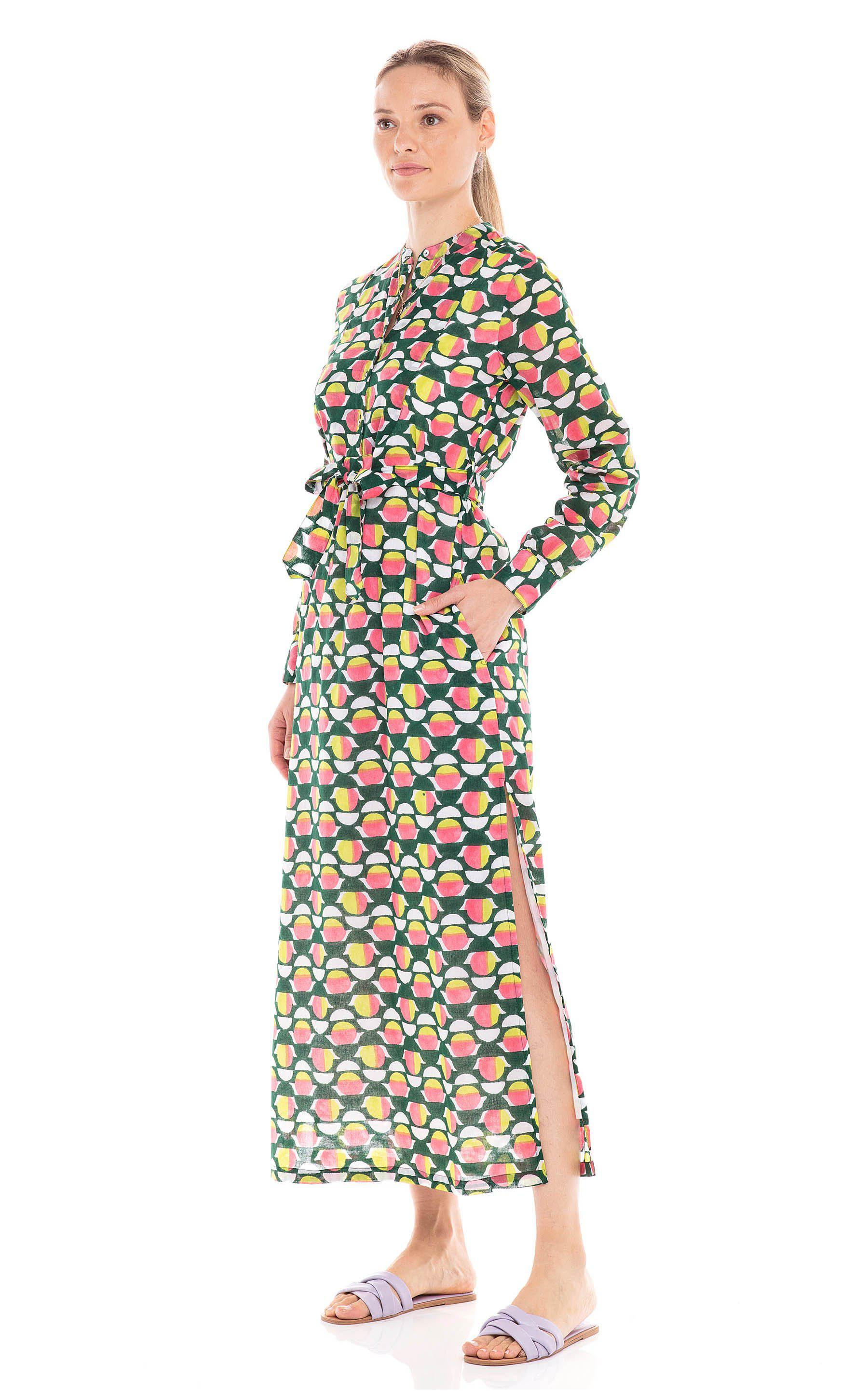 Crystal Dress Curlew Curve Lime Green 3