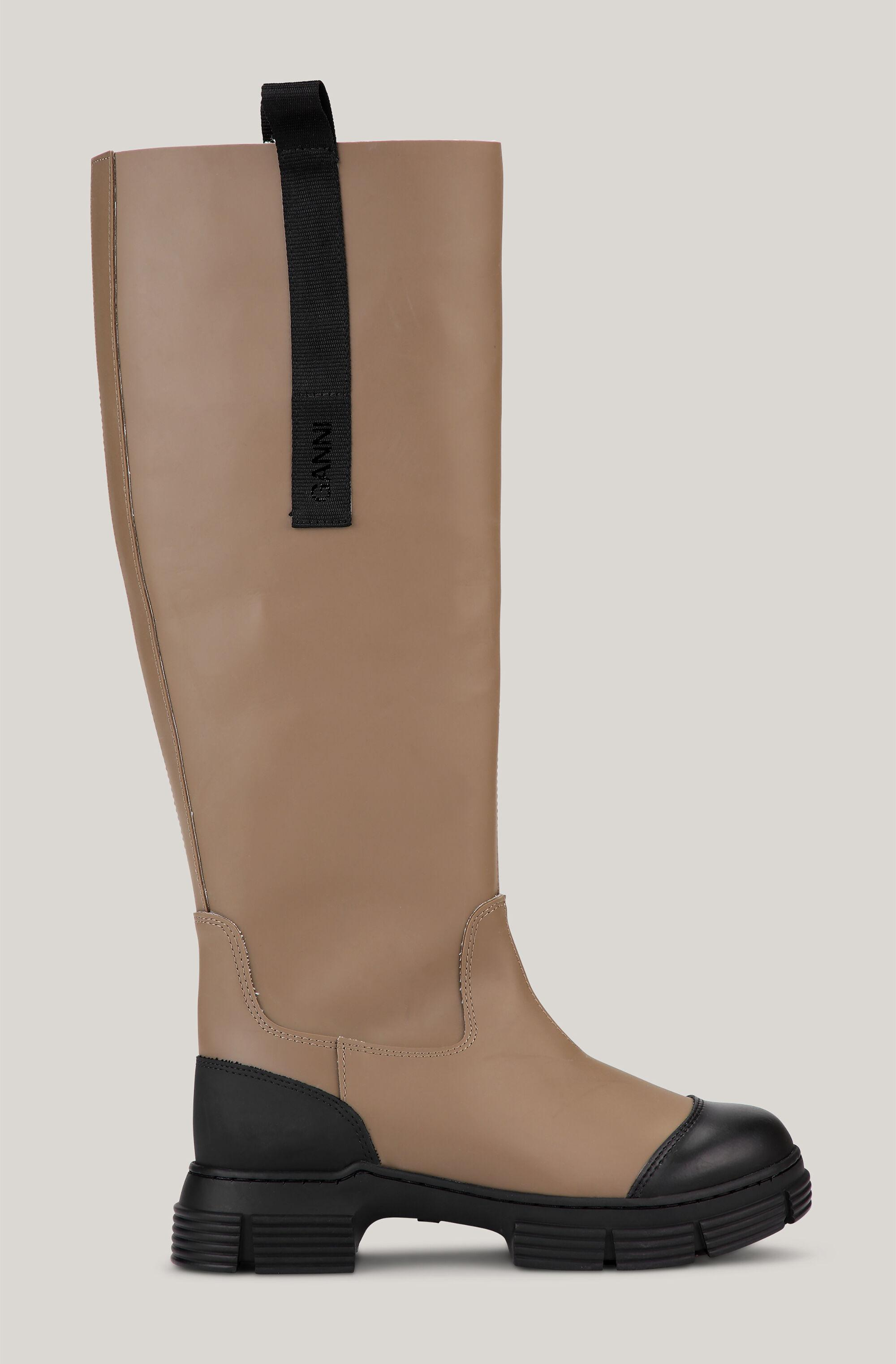 Recycled Rubber Knee-High Country Boots