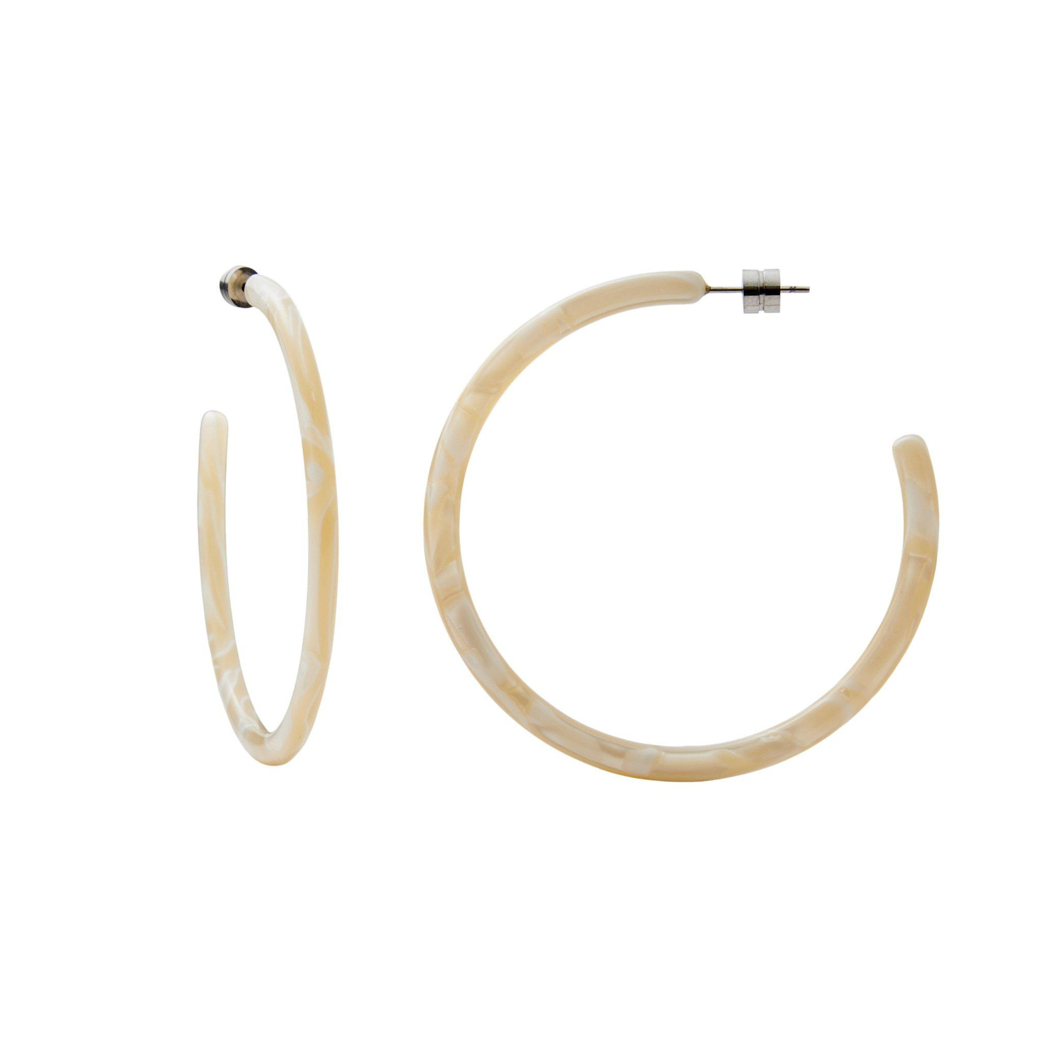 Large Hoops in Ivory