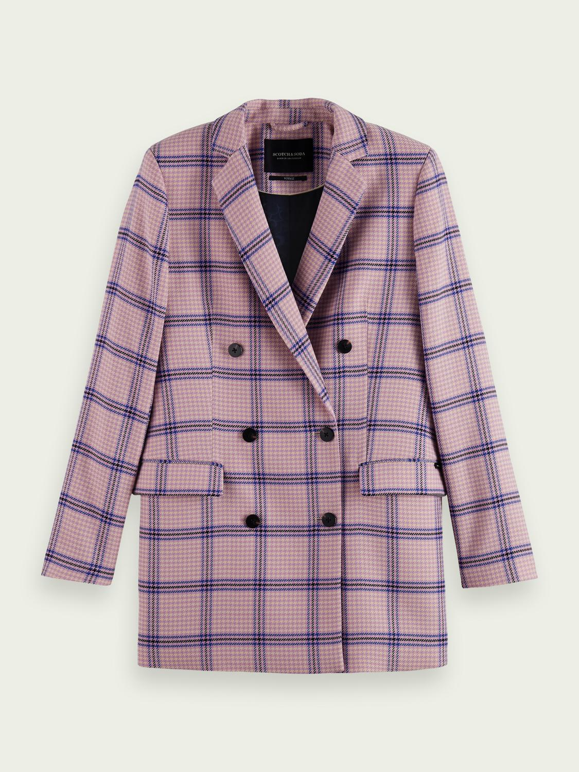 Houndstooth double-breasted blazer 4