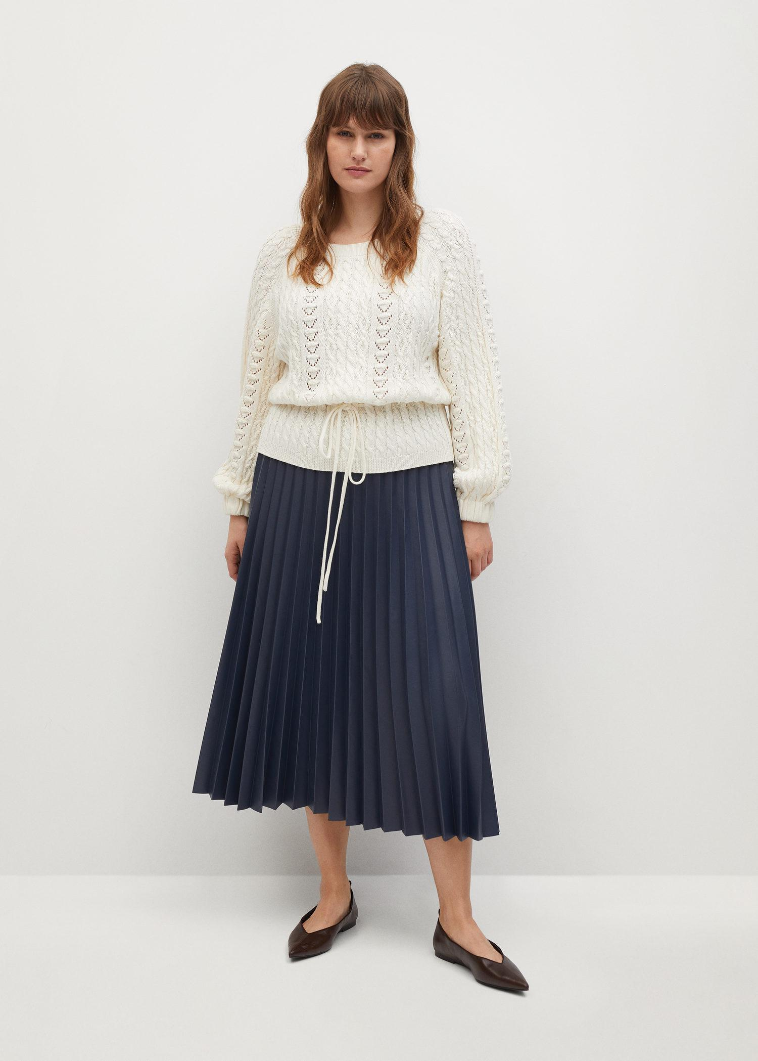 Openwork cable-knit sweater