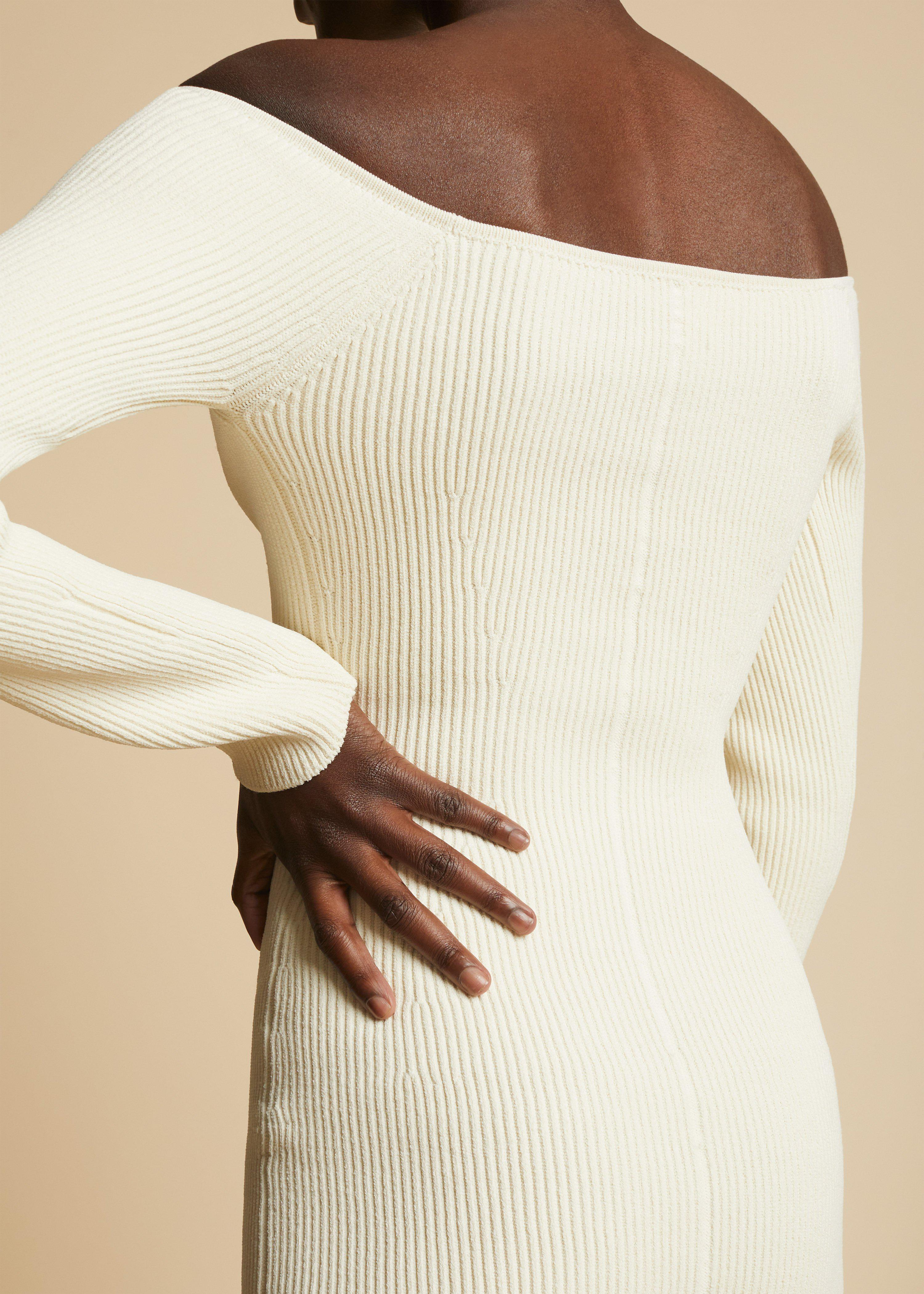 The Pia Dress in Ivory 3