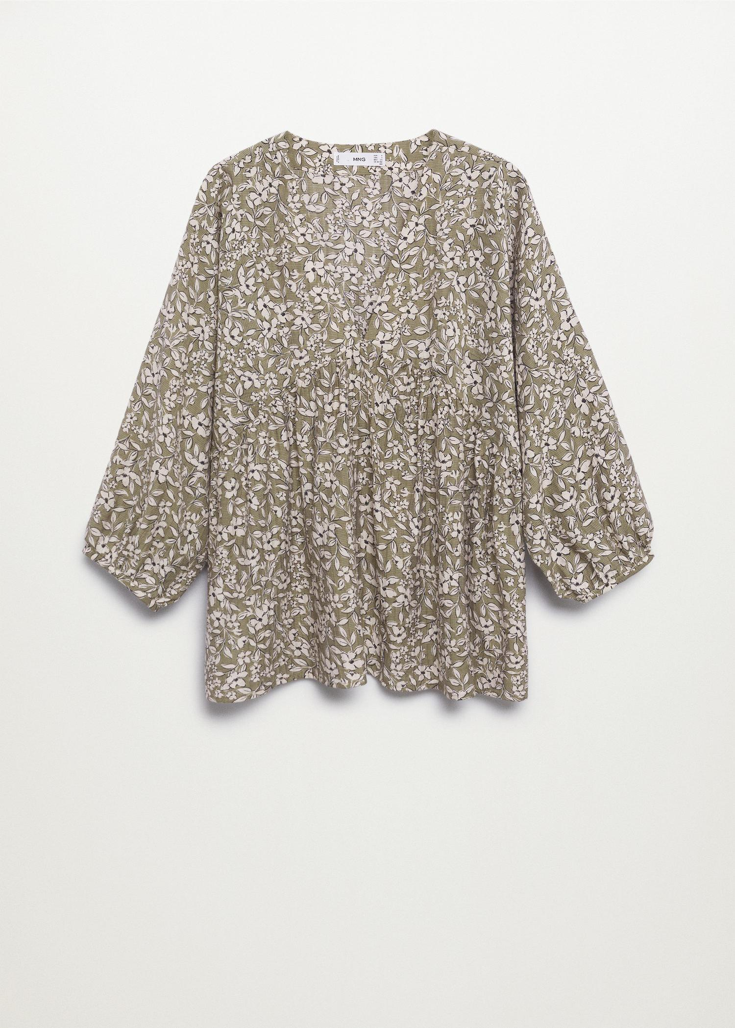 Pleated details blouse 6