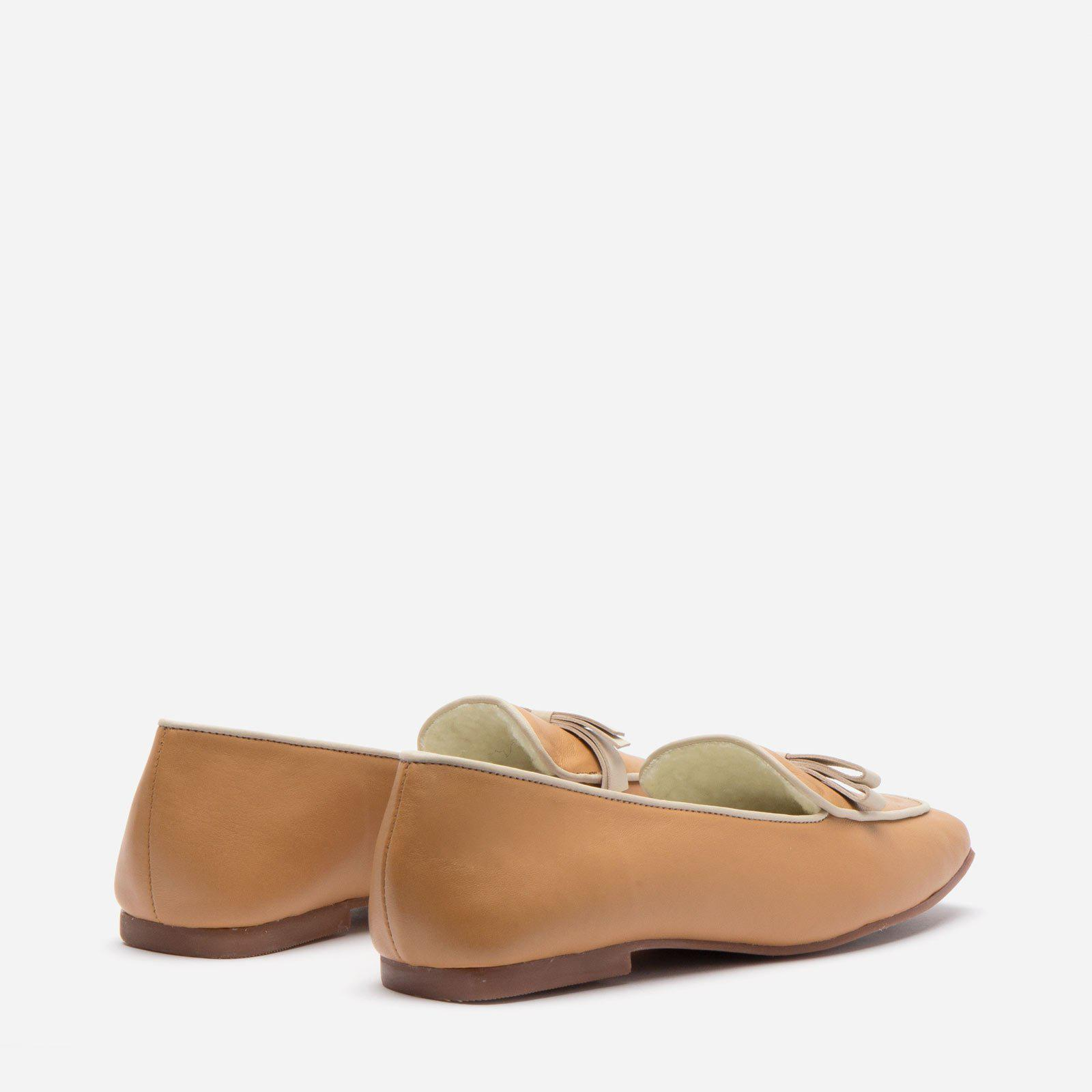 Suzanne Cozy Loafer Nappa Faux Shearling Camel 3