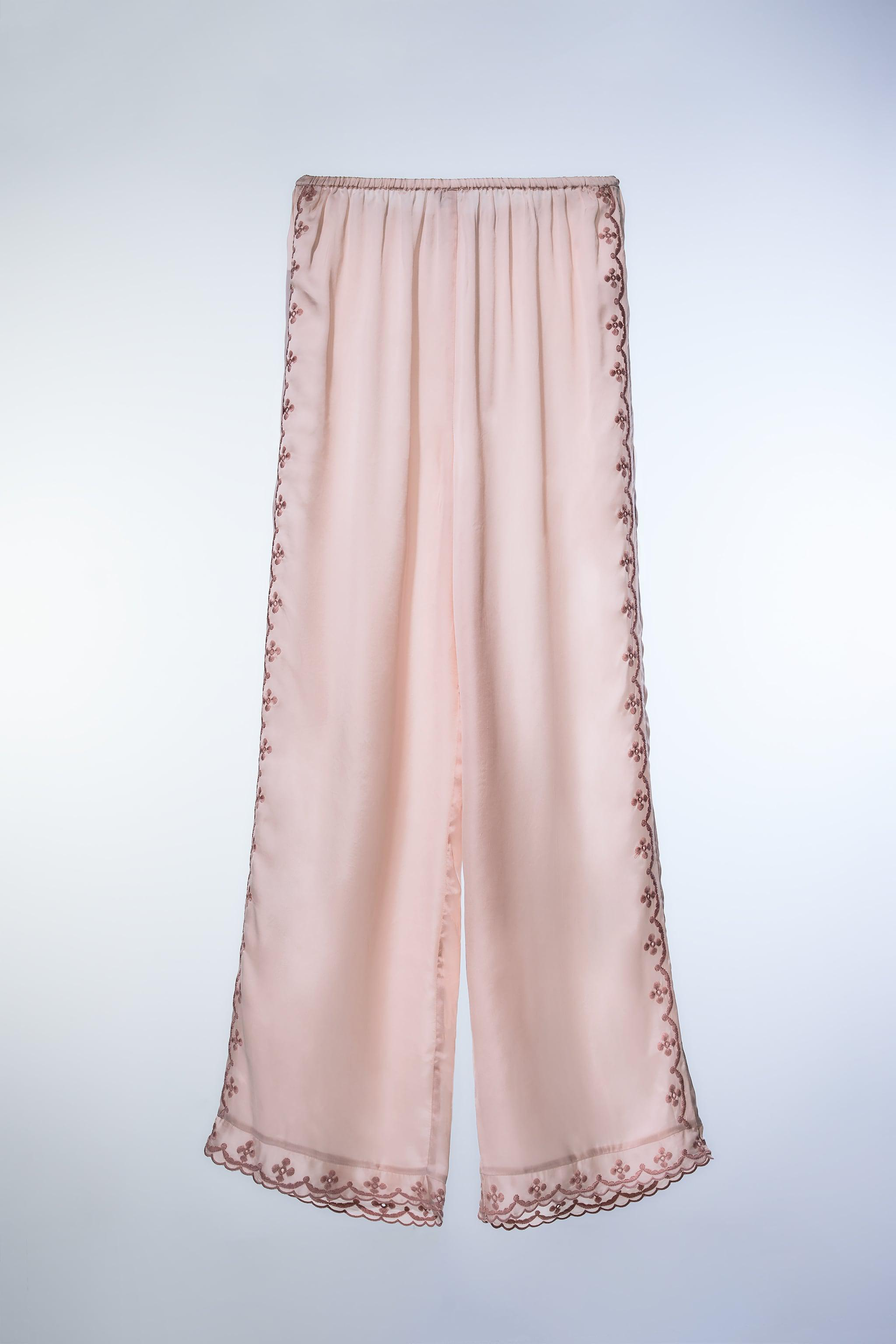 EMBROIDERED FULL LENGTH PANTS 1