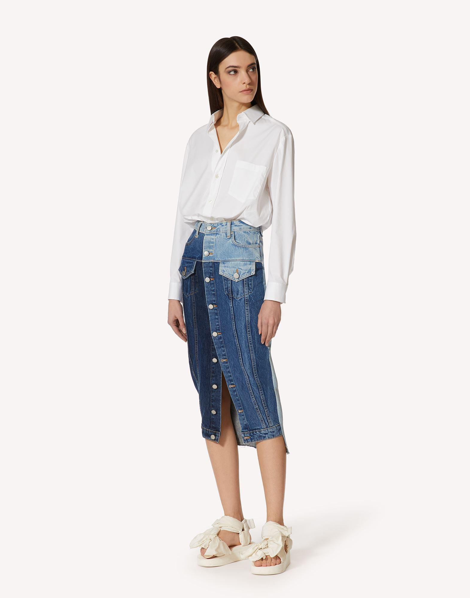 COTTON POPLIN SHIRT WITH BOW DETAILS 2