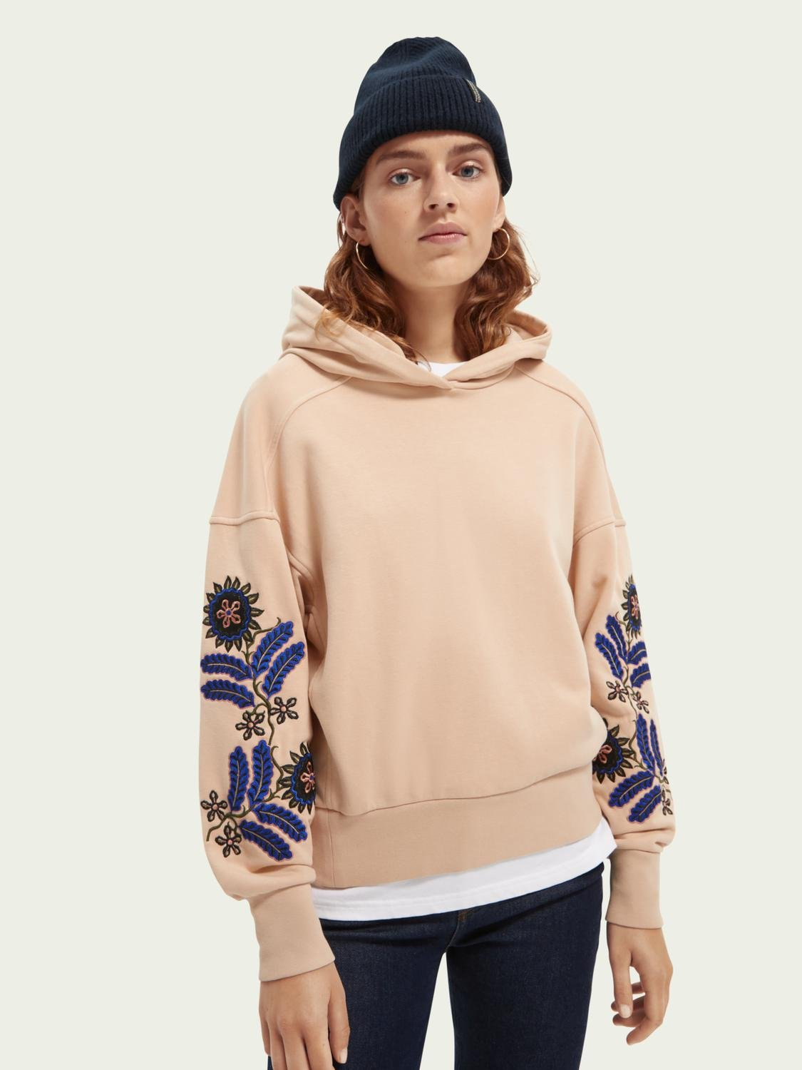 Embroidered oversized hoodie