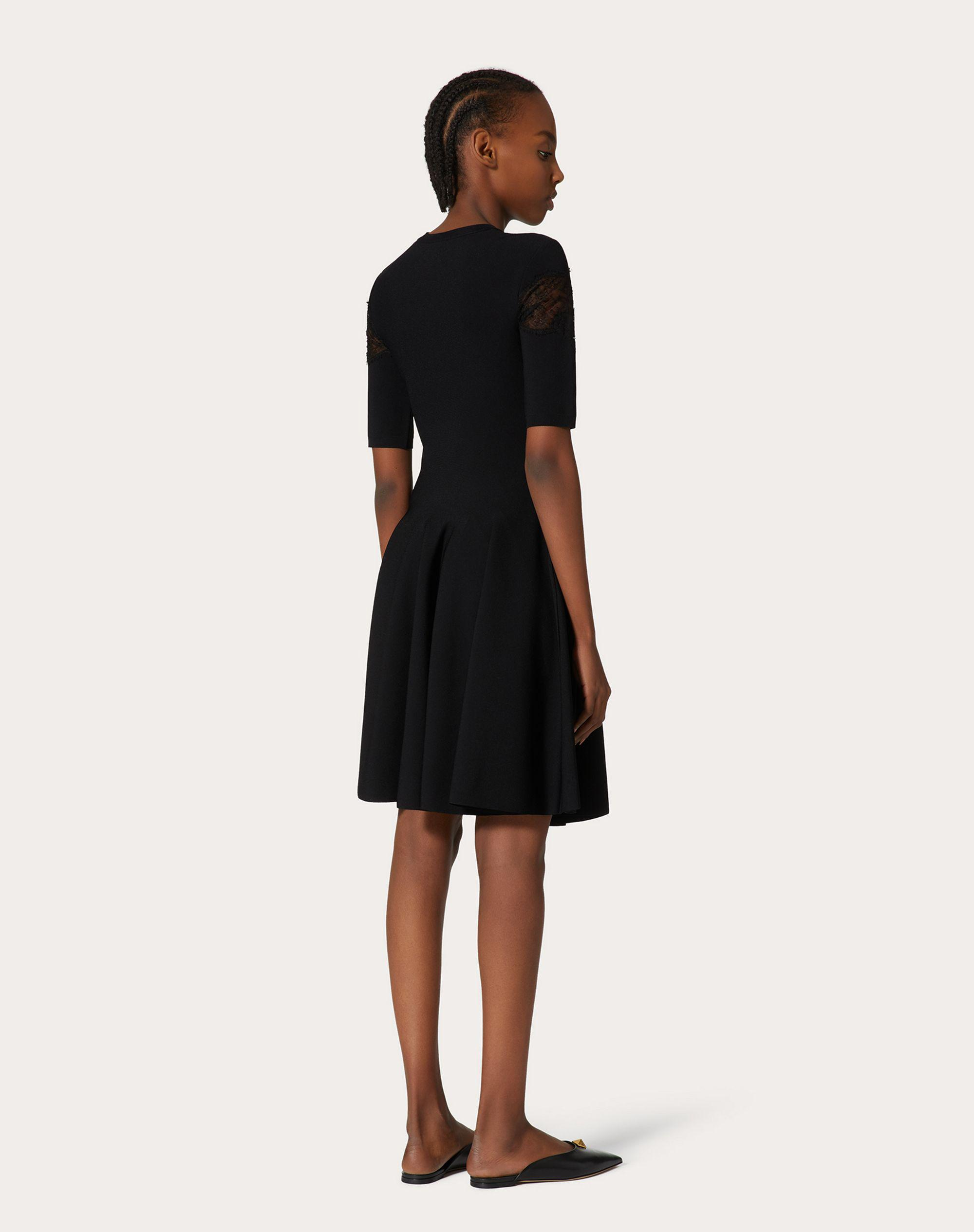 JERSEY DRESS IN STRETCHED VISCOSE AND LACE 2