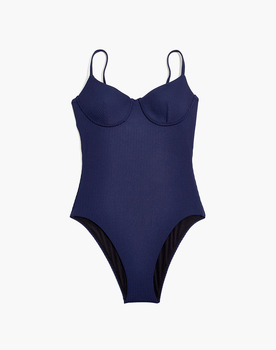 Madewell Second Wave Ribbed Structured One-Piece Swimsuit 3