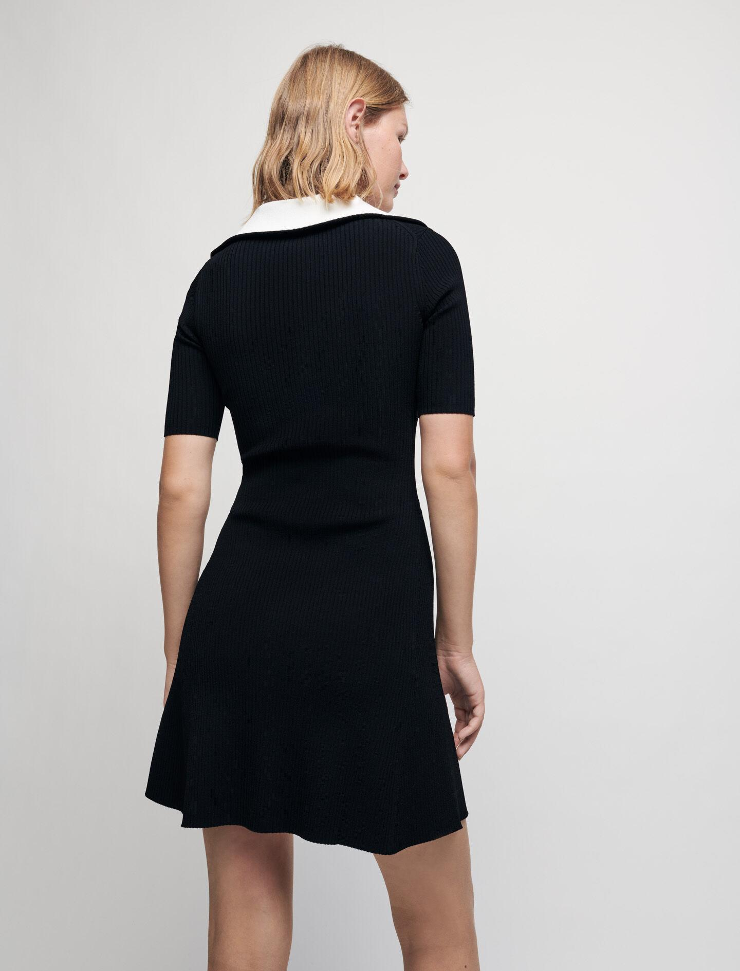 RIBBED KNIT DRESS WITH ZIP COLLAR 3