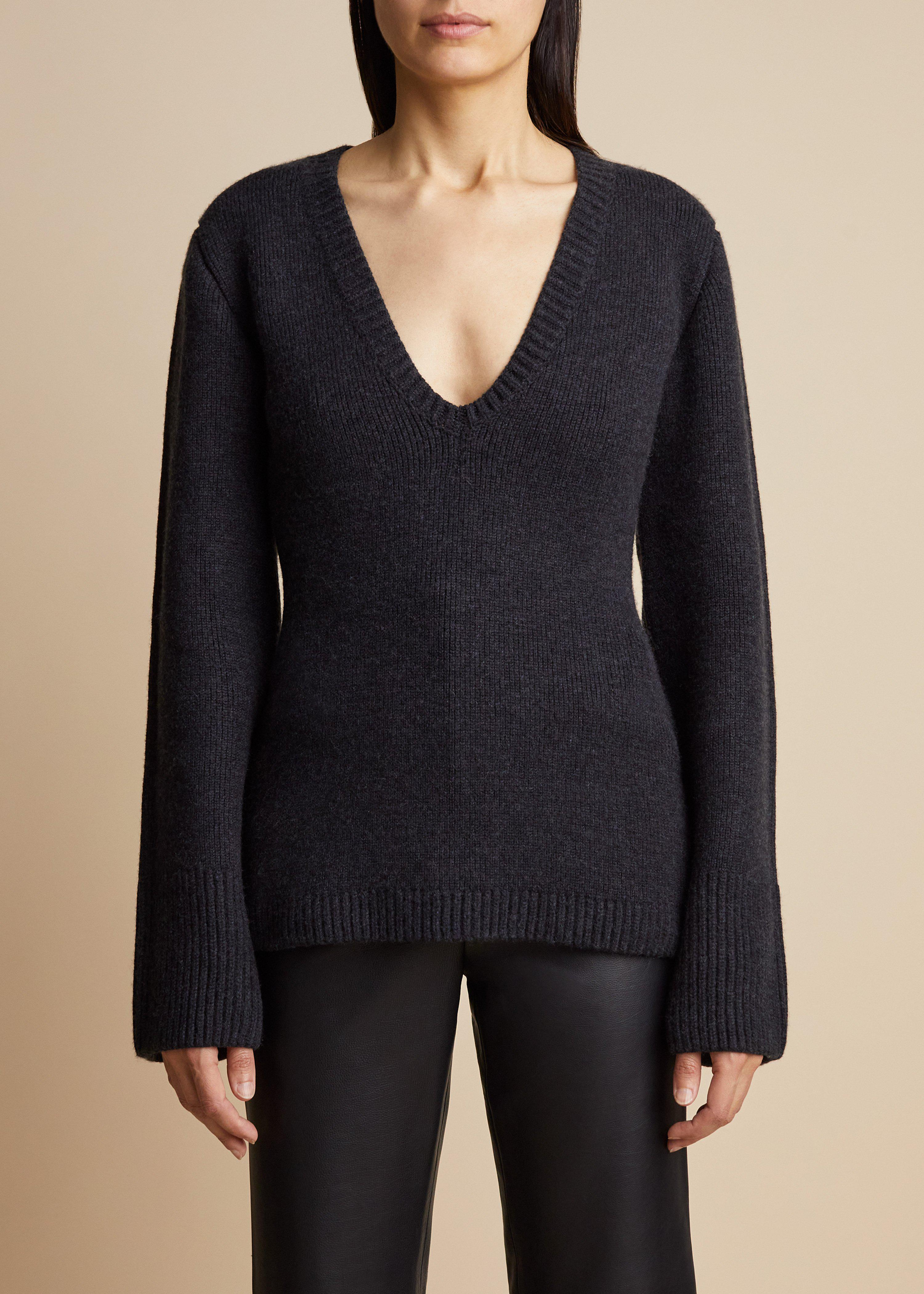 The Claudia Sweater in Charcoal