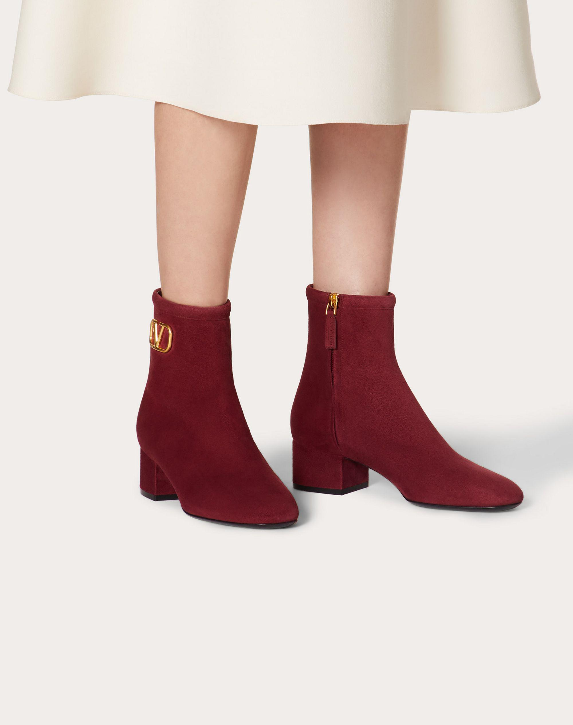 VLogo Signature Suede Ankle Boot 45 mm / 1.8 in. 5