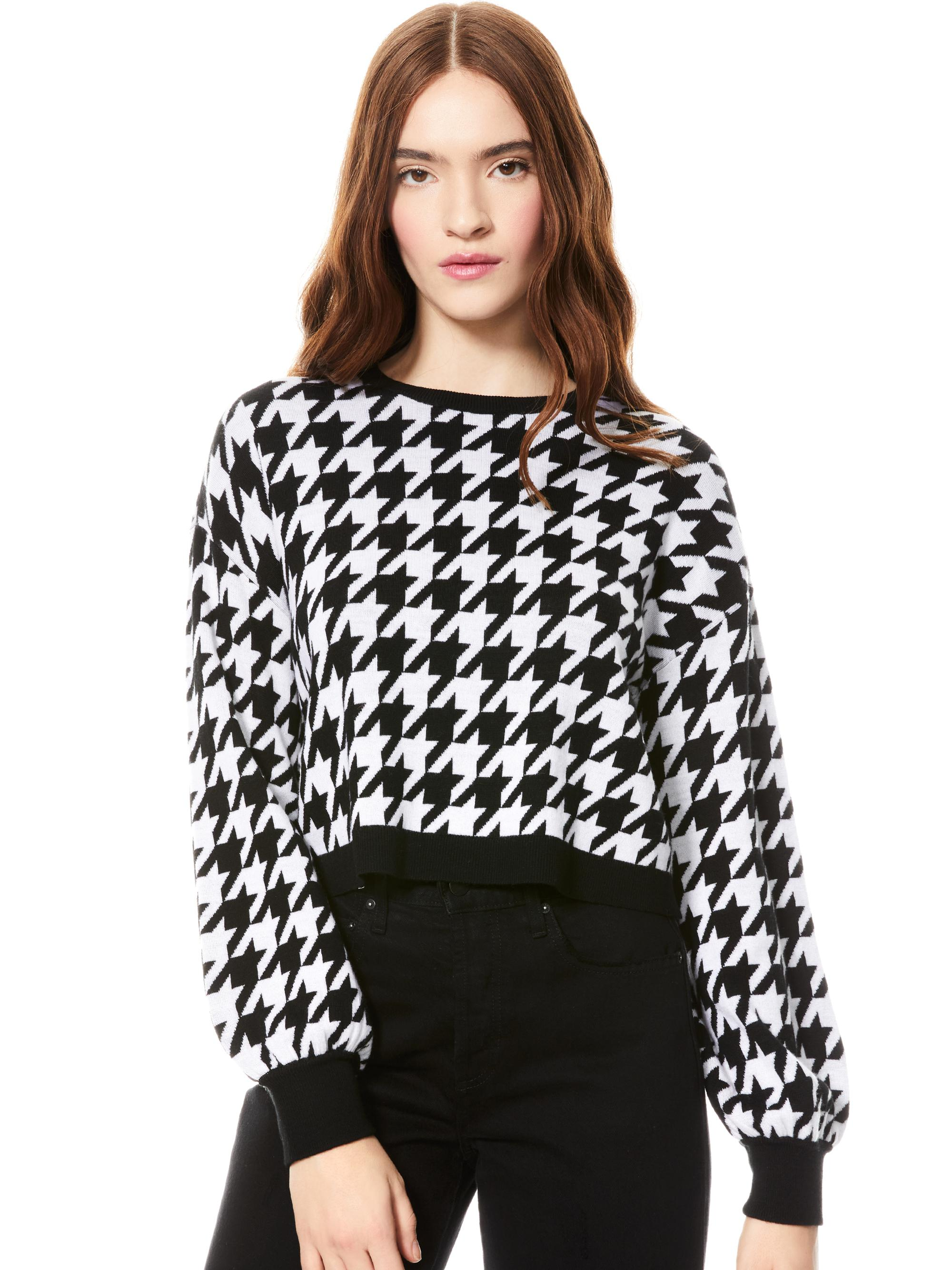 ANSLEY HOUNDSTOOTH PULLOVER