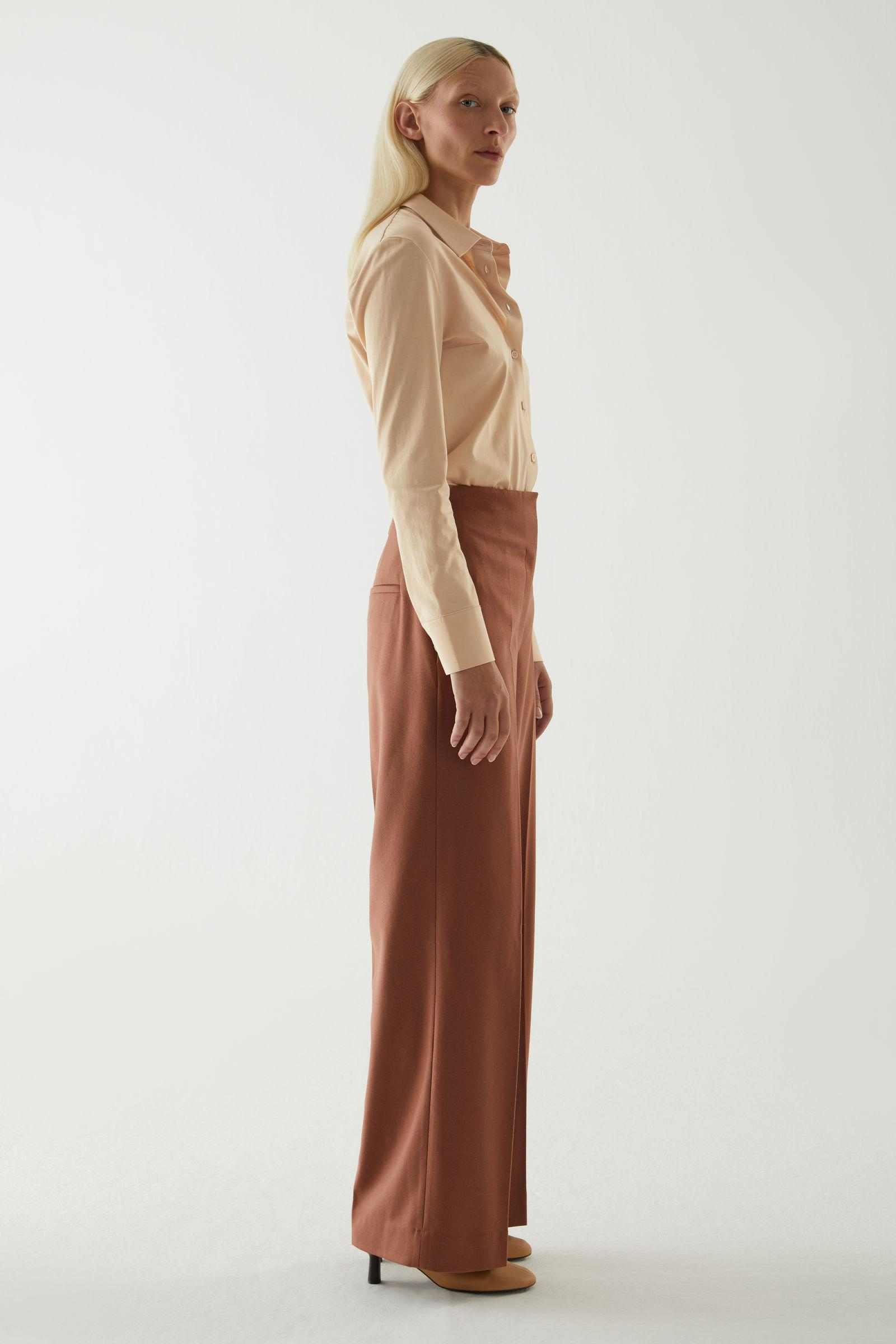 WOOL-CASHMERE TAILORED PANTS 2