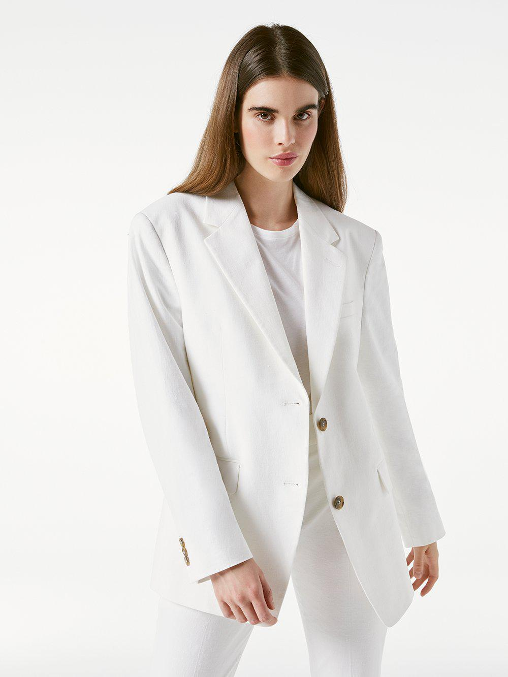 Grandfather Jacket -- Suiting White