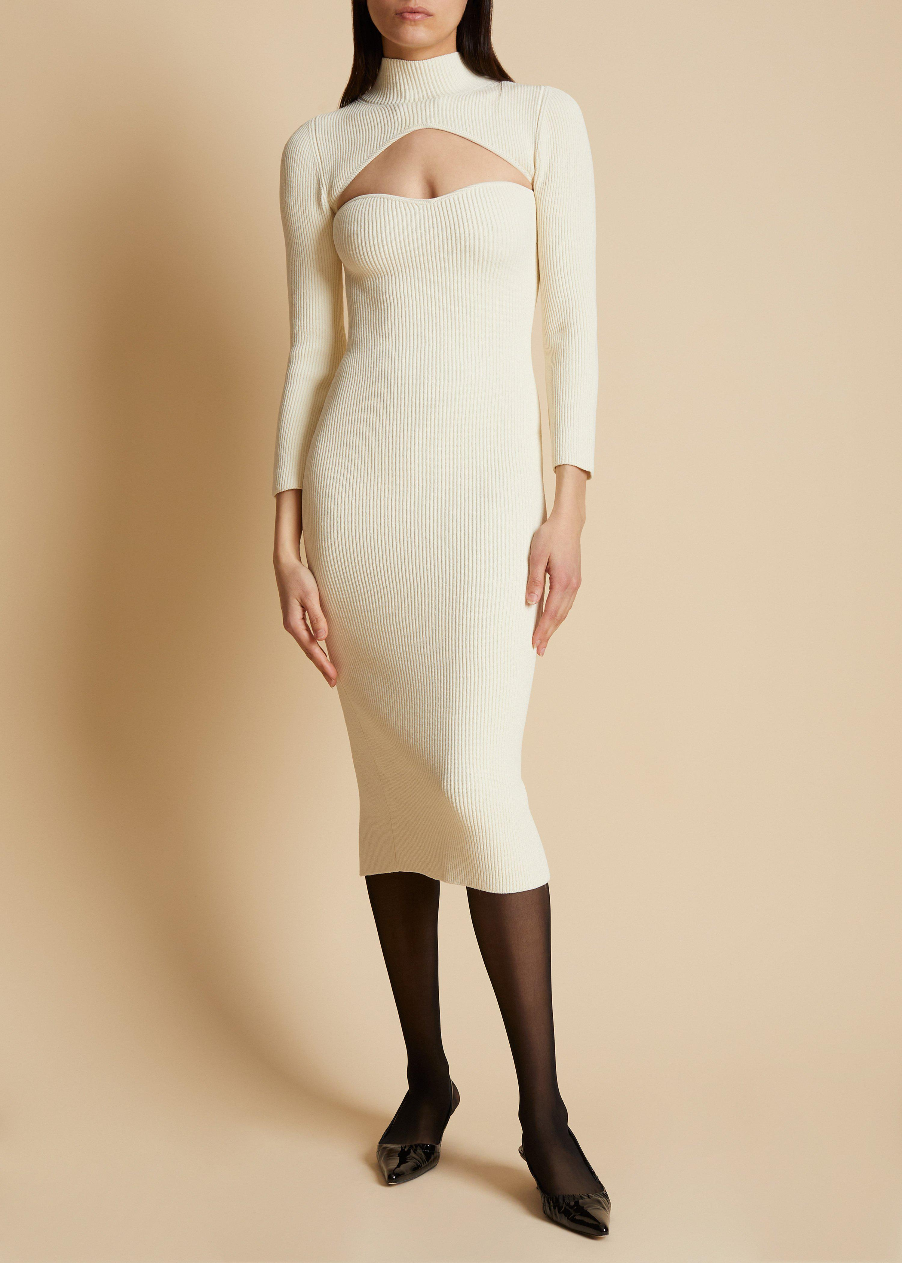 The Mischa Dress in Ivory