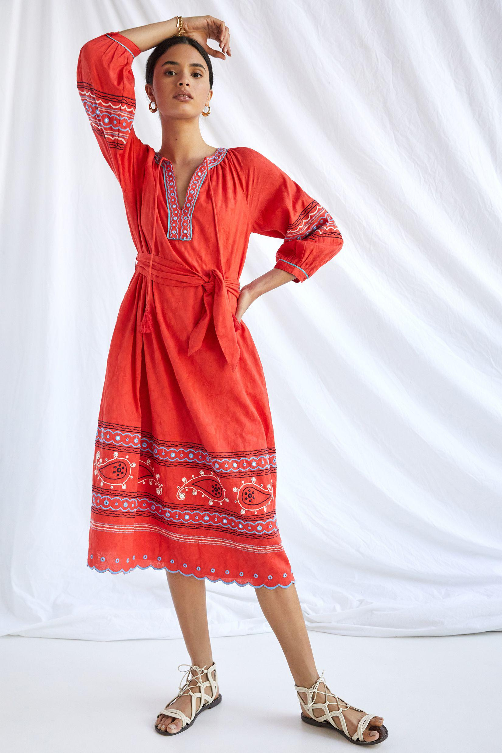 Scarlet Puff-Sleeved Maxi Dress 2