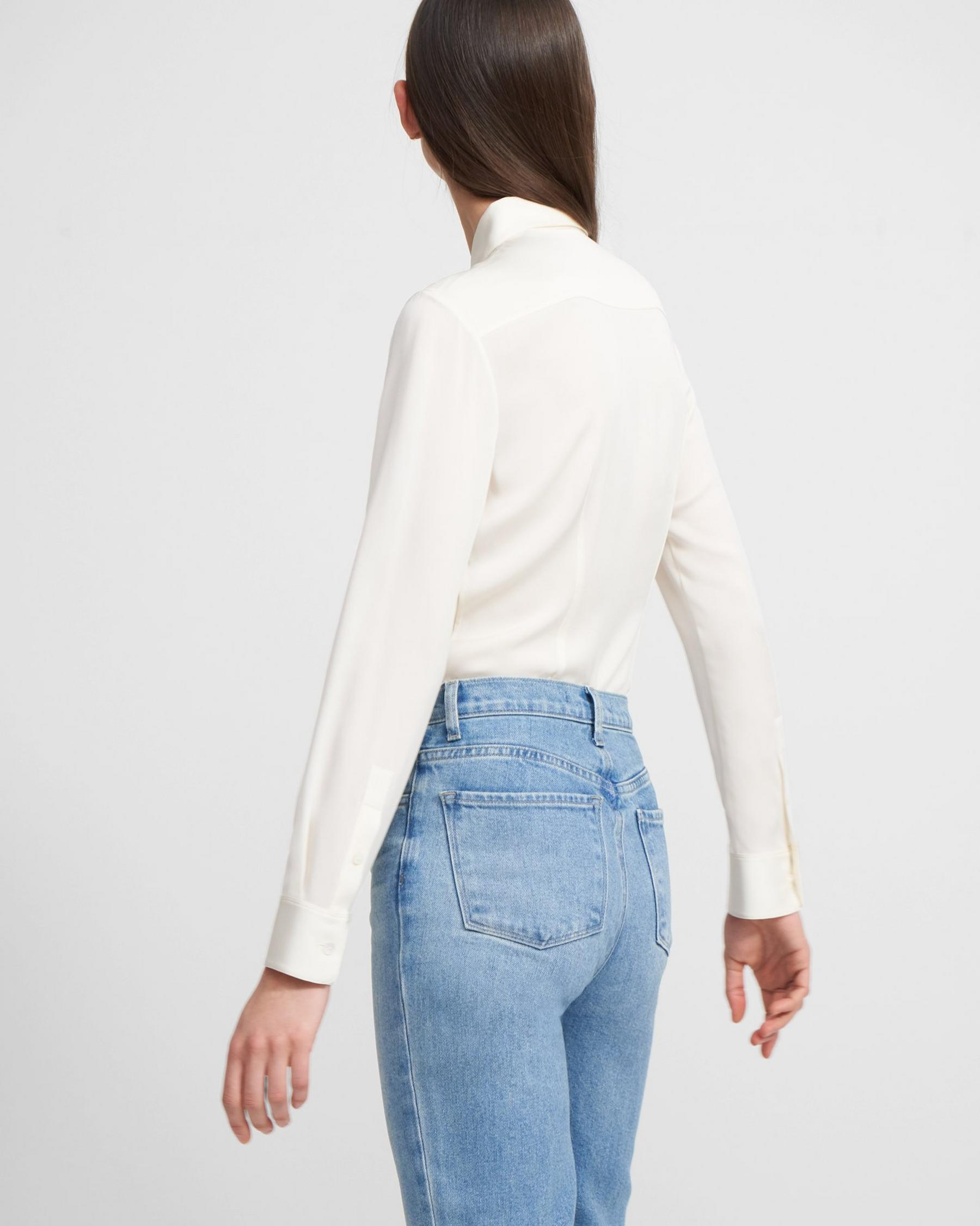 Fitted Shirt in Stretch Silk 2