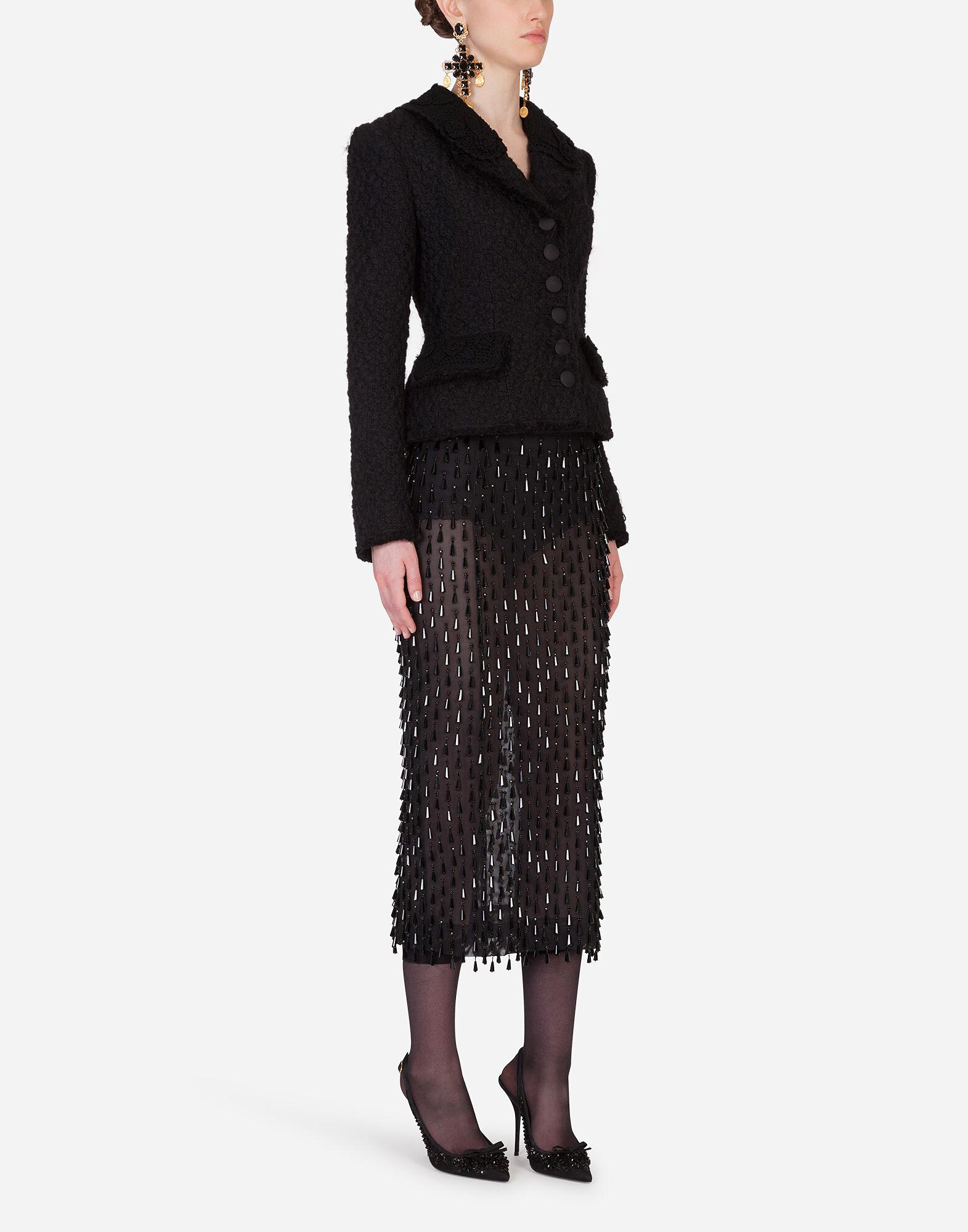 Embroidered pencil skirt 3