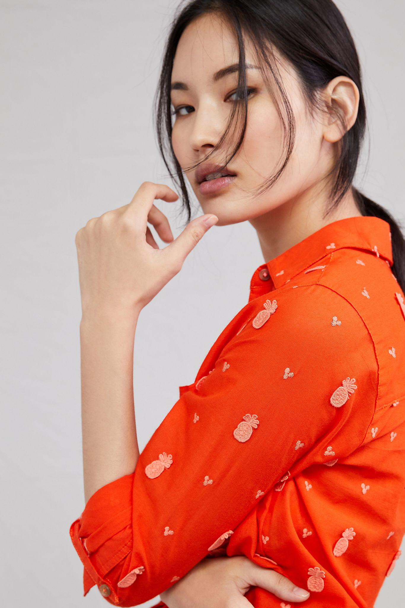 Maeve Classic Embroidered Buttondown