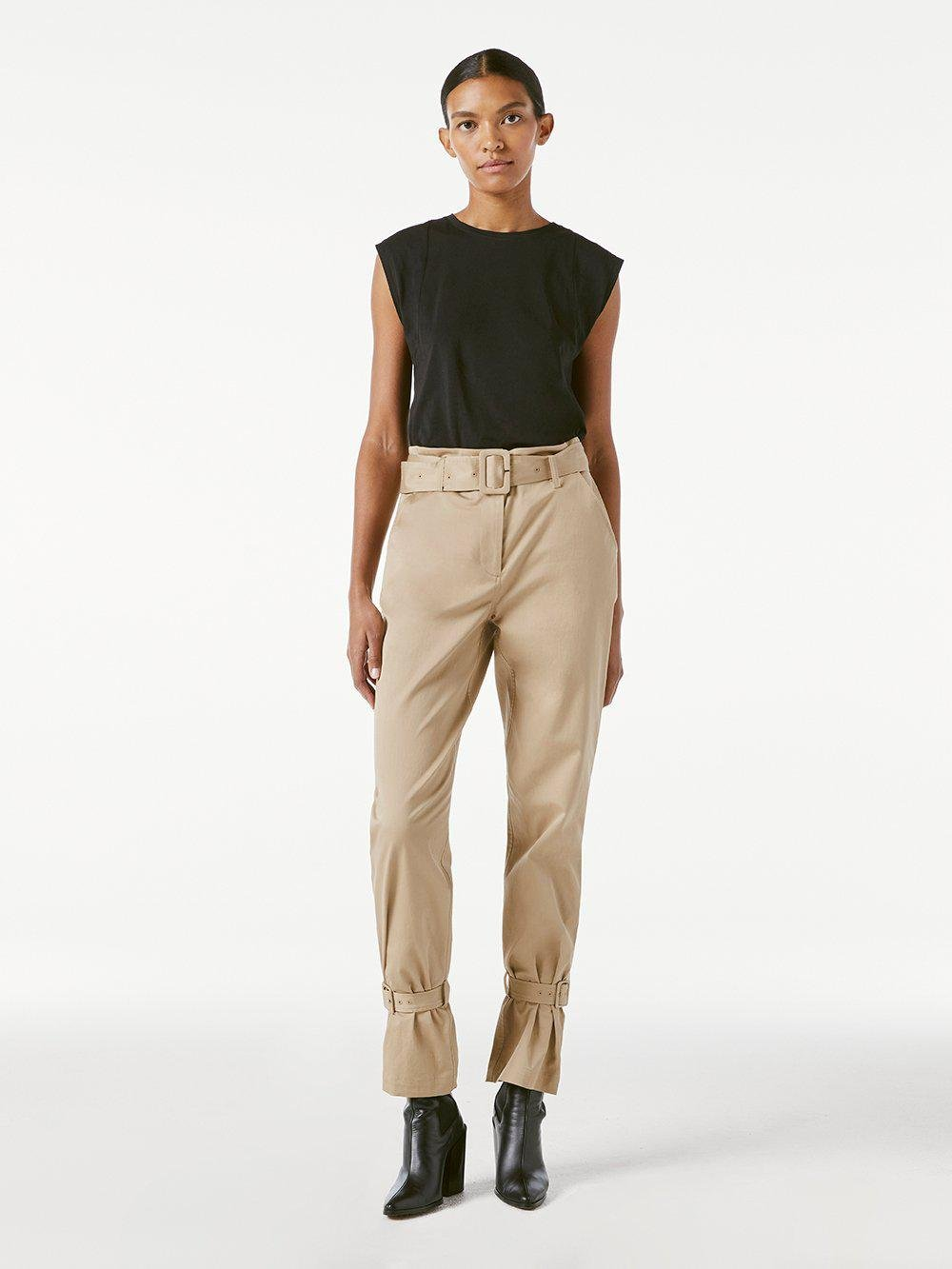 Cinched Trouser -- Dark Sand