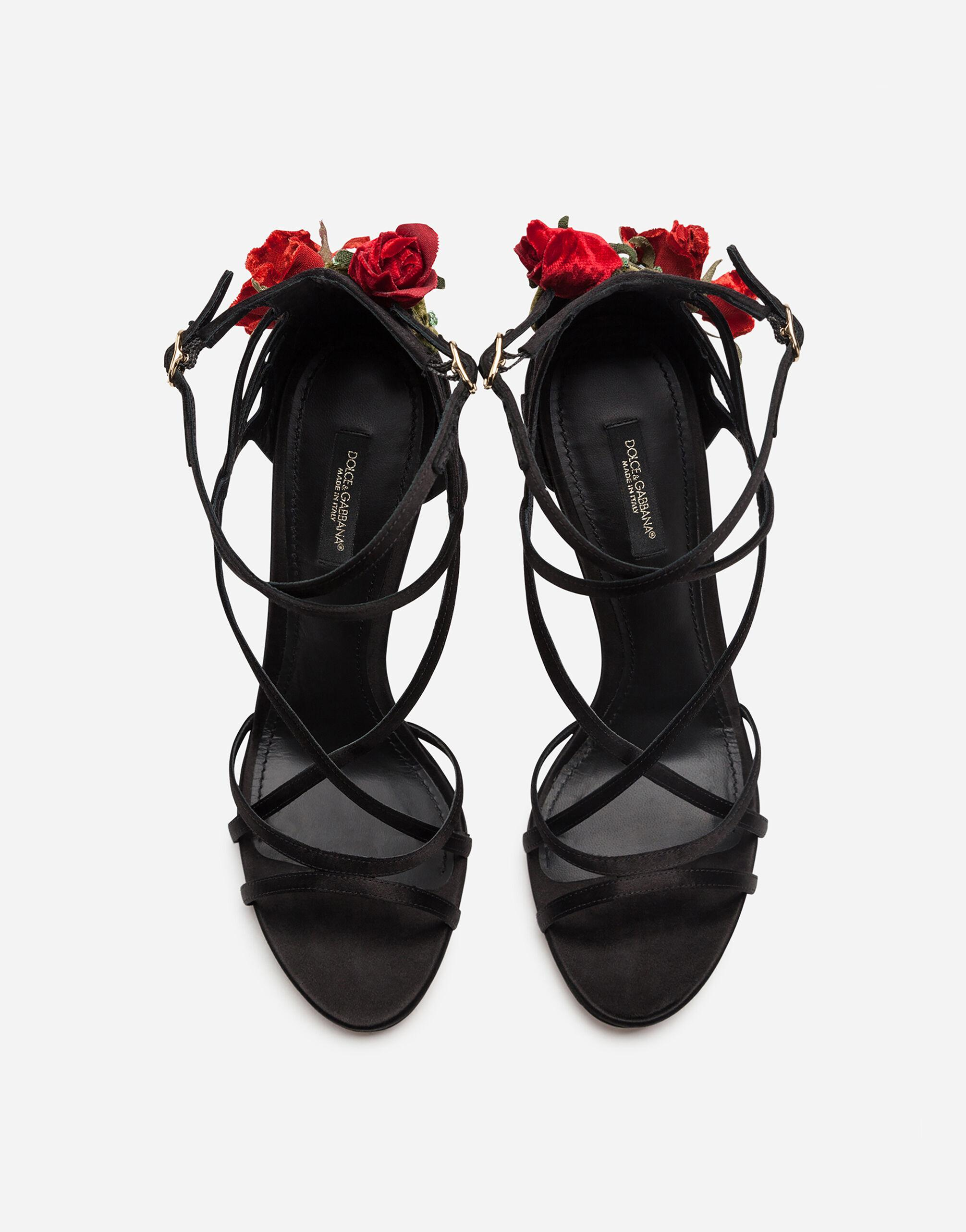 Satin sandals with embroidery 3