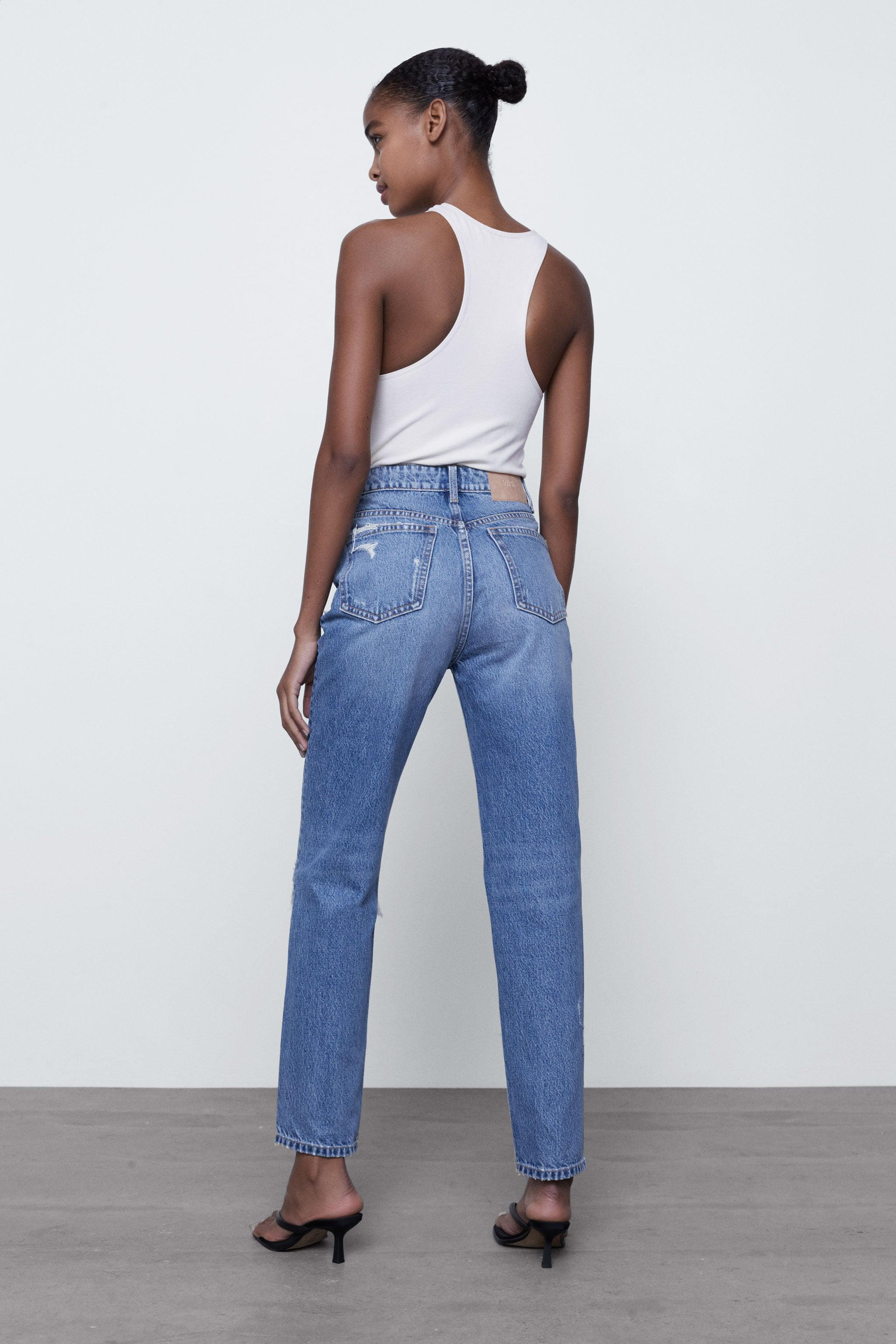 RIPPED MOM FIT JEANS 4