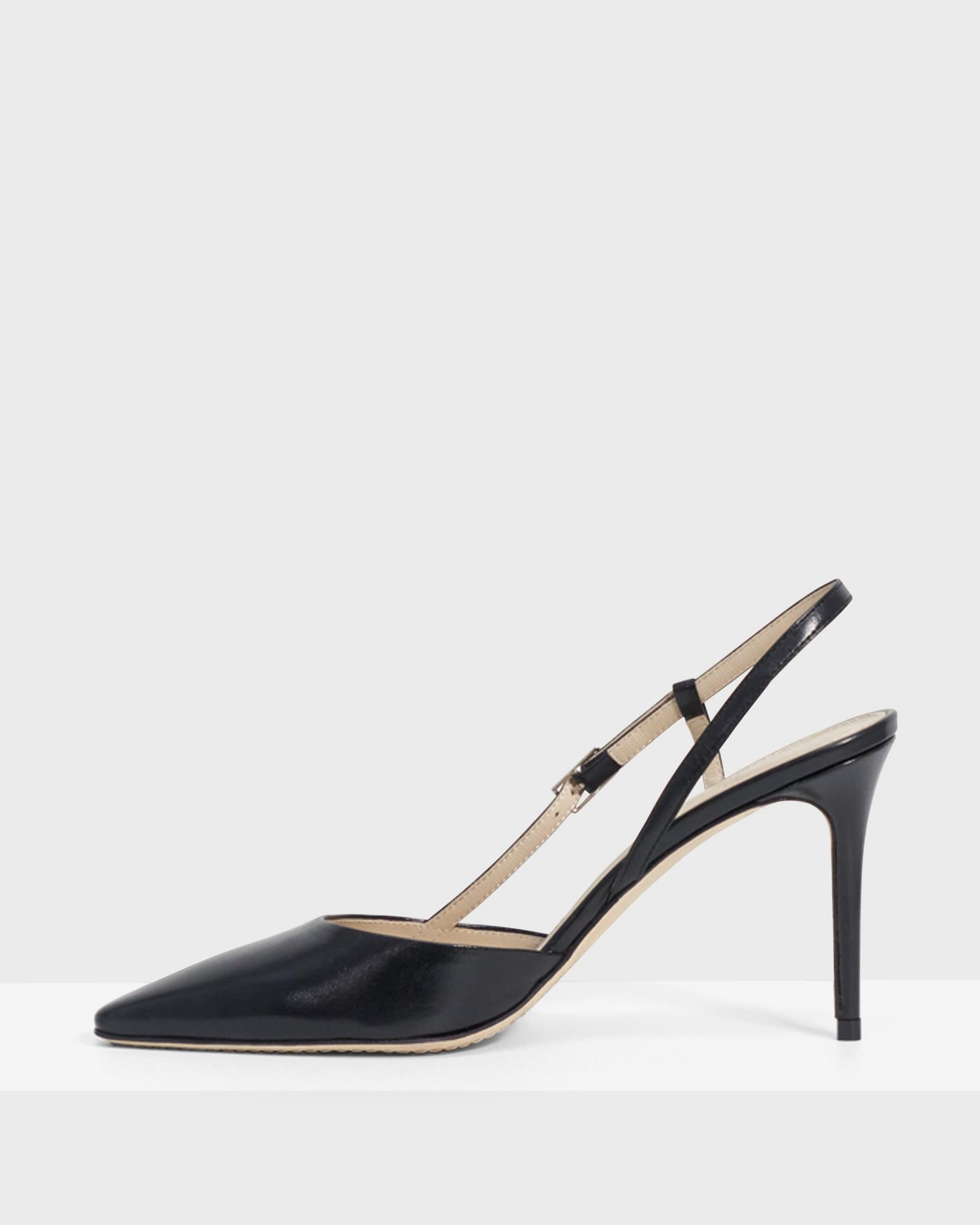 Buckled Mid-Heel Sandal in Leather 3