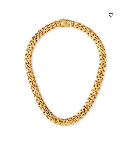RUTH CURB CHAIN NECKLACE - 12MM