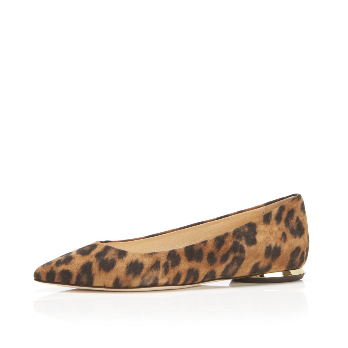 Must Have Flat   Leopard Print Suede Classic Pointy Toe Flat 1