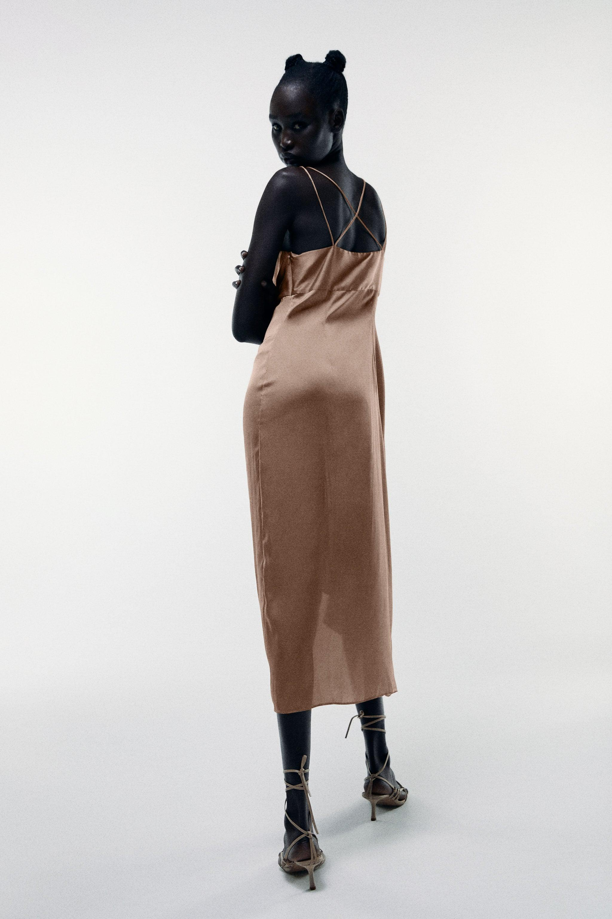 KNOTTED SLIP DRESS 3