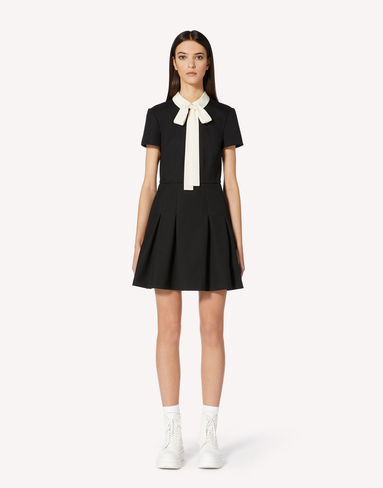 TRICOTINE DRESS WITH COLLAR DETAIL