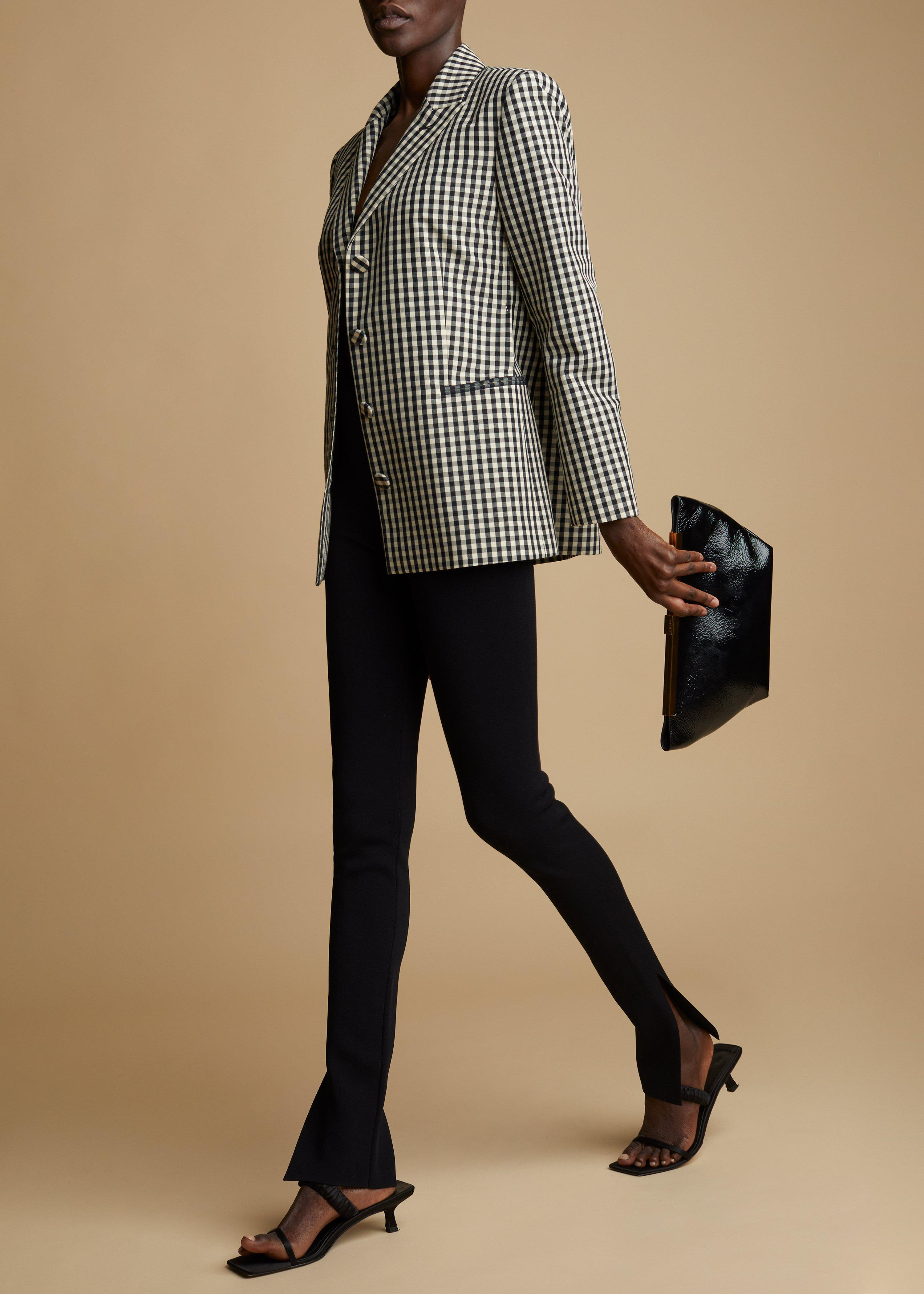 The Joan Blazer in Black and White Gingham