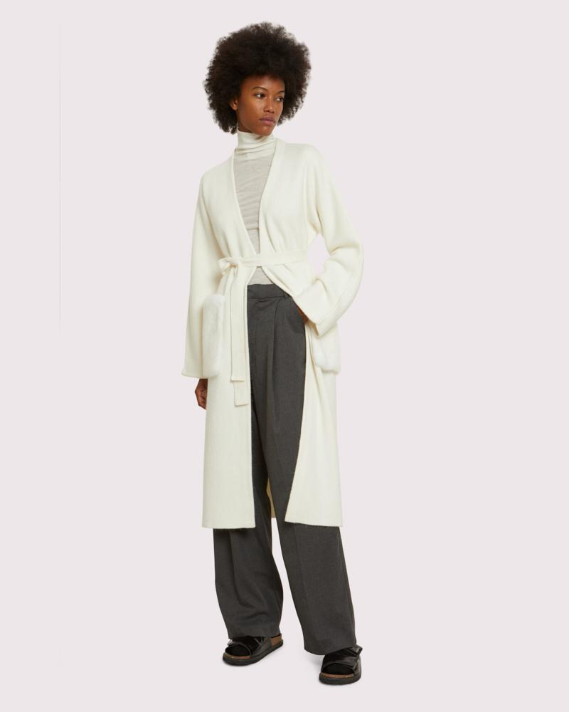 long knit coat with mink pockets 1