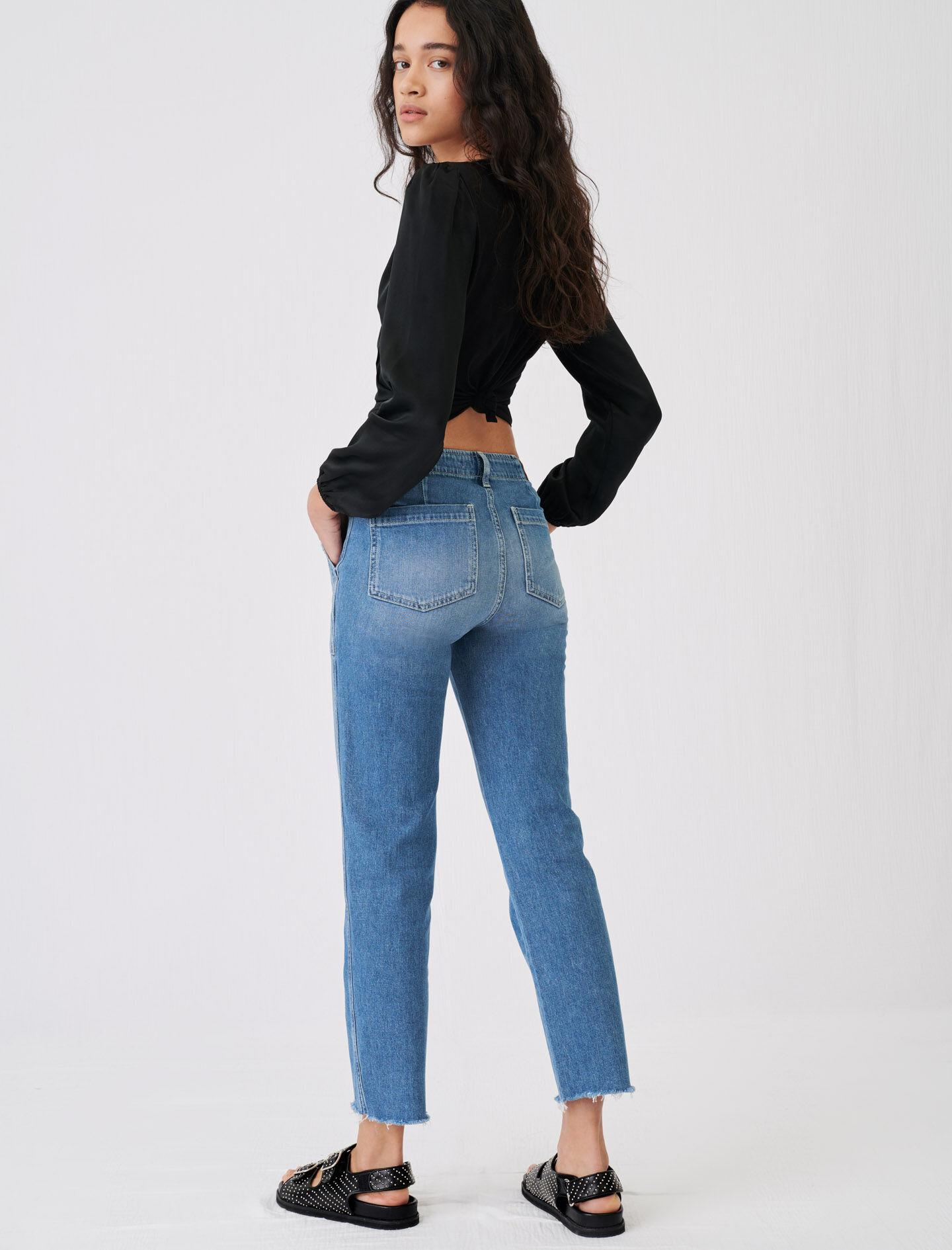 JEANS WITH TOPSTITCHED POCKETS 1