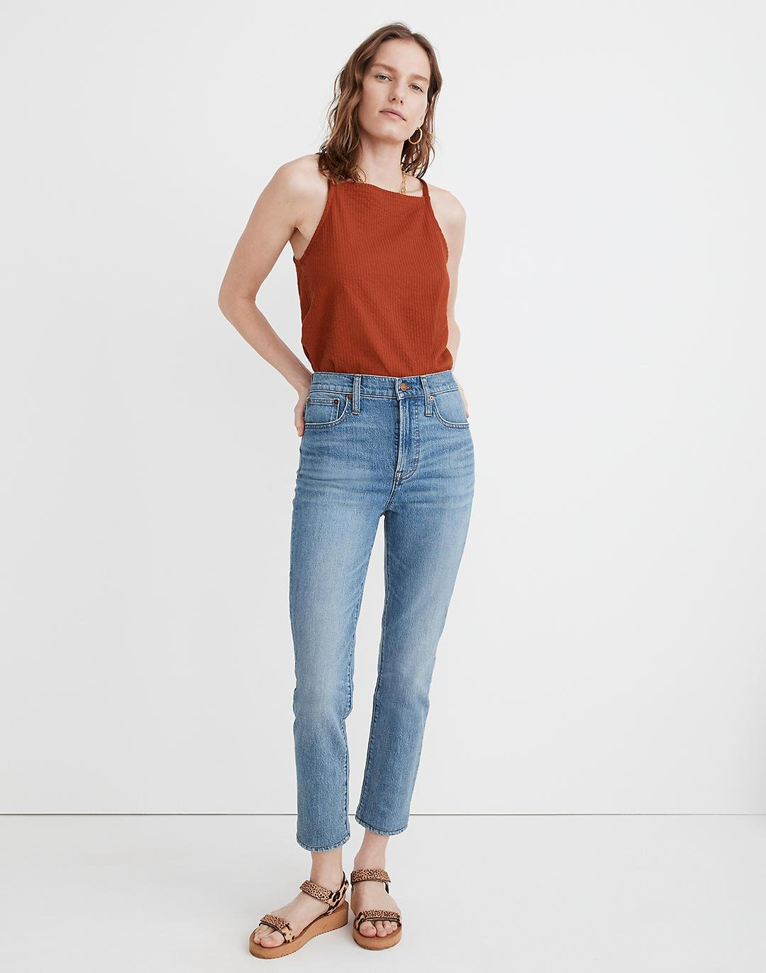 The Tall Perfect Vintage Crop Jean in Clymer Wash