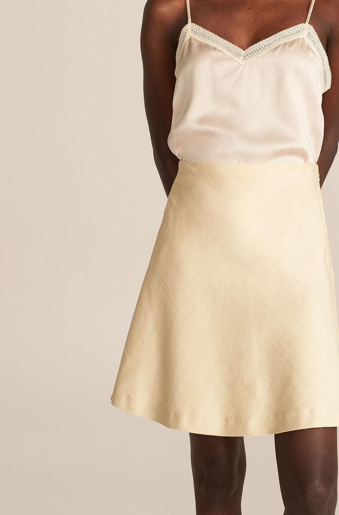 VISCOSE FIT AND FLARE SKIRT