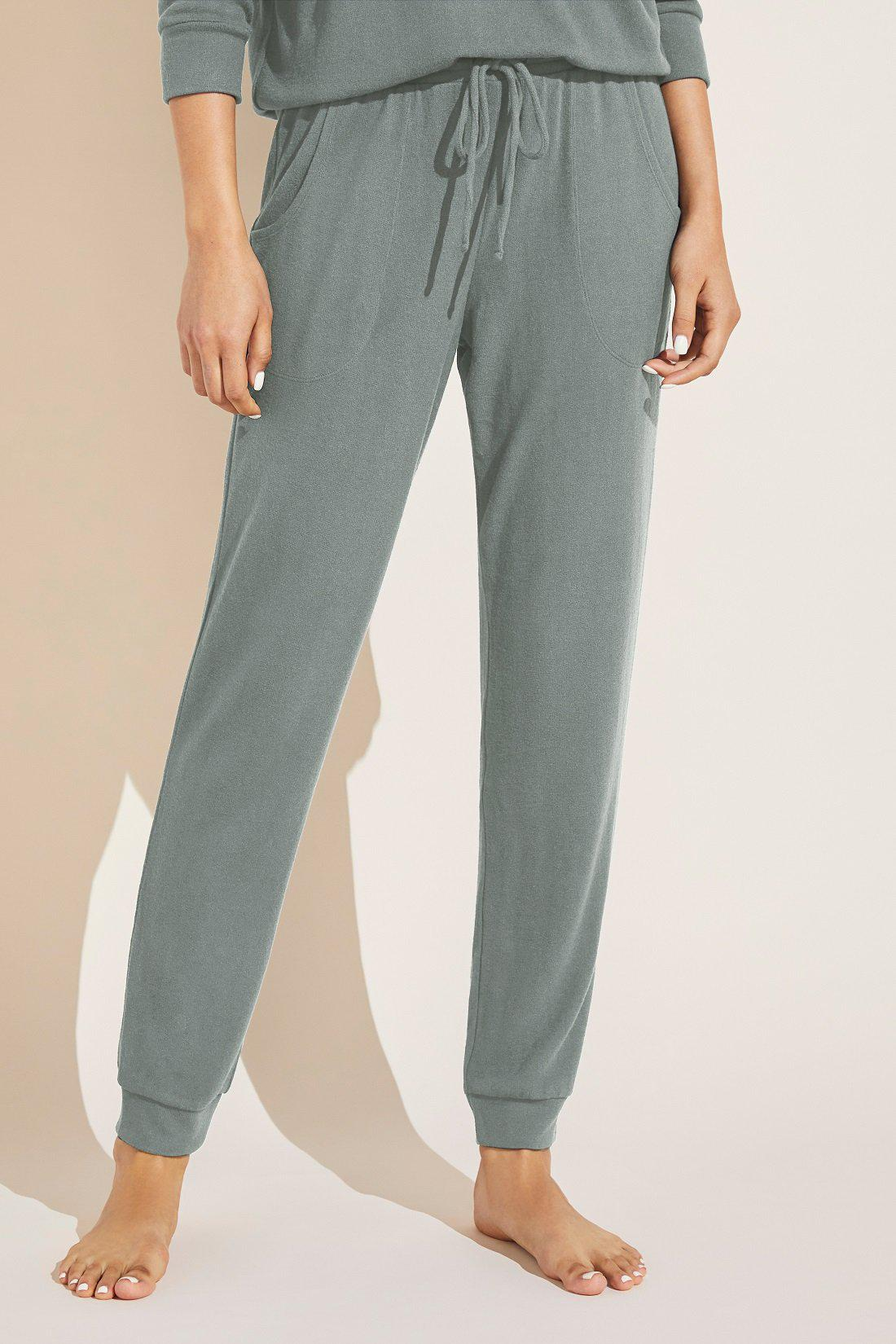 Cozy Time Brushed Modal Pant - Willow Green