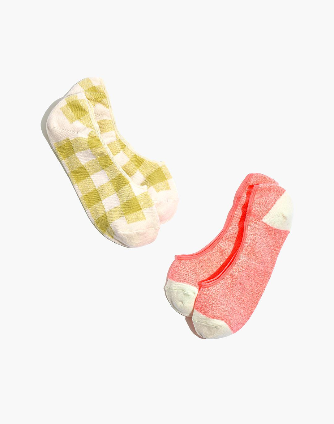 Two-Pack Gingham Low-Profile Socks
