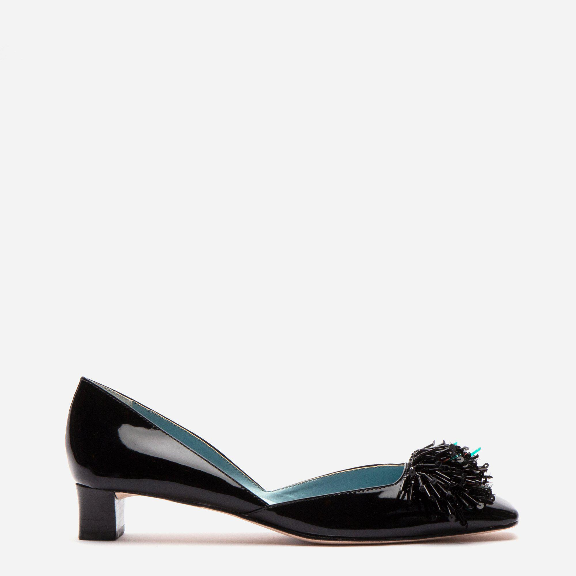 McCall Stacked Heel D'Orsay Black Patent