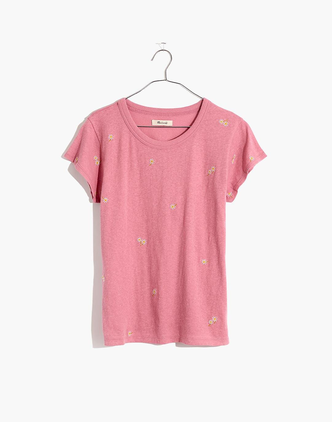 The Daisy Embroidered Perfect Vintage Tee