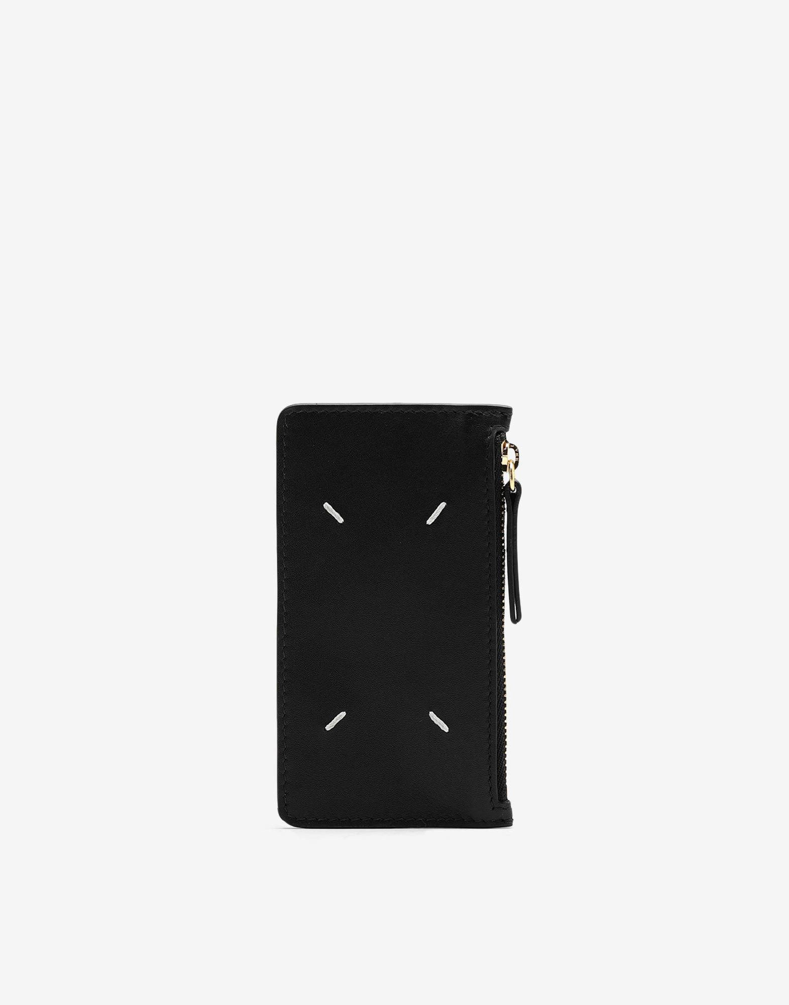 Card-holder calf leather wallet
