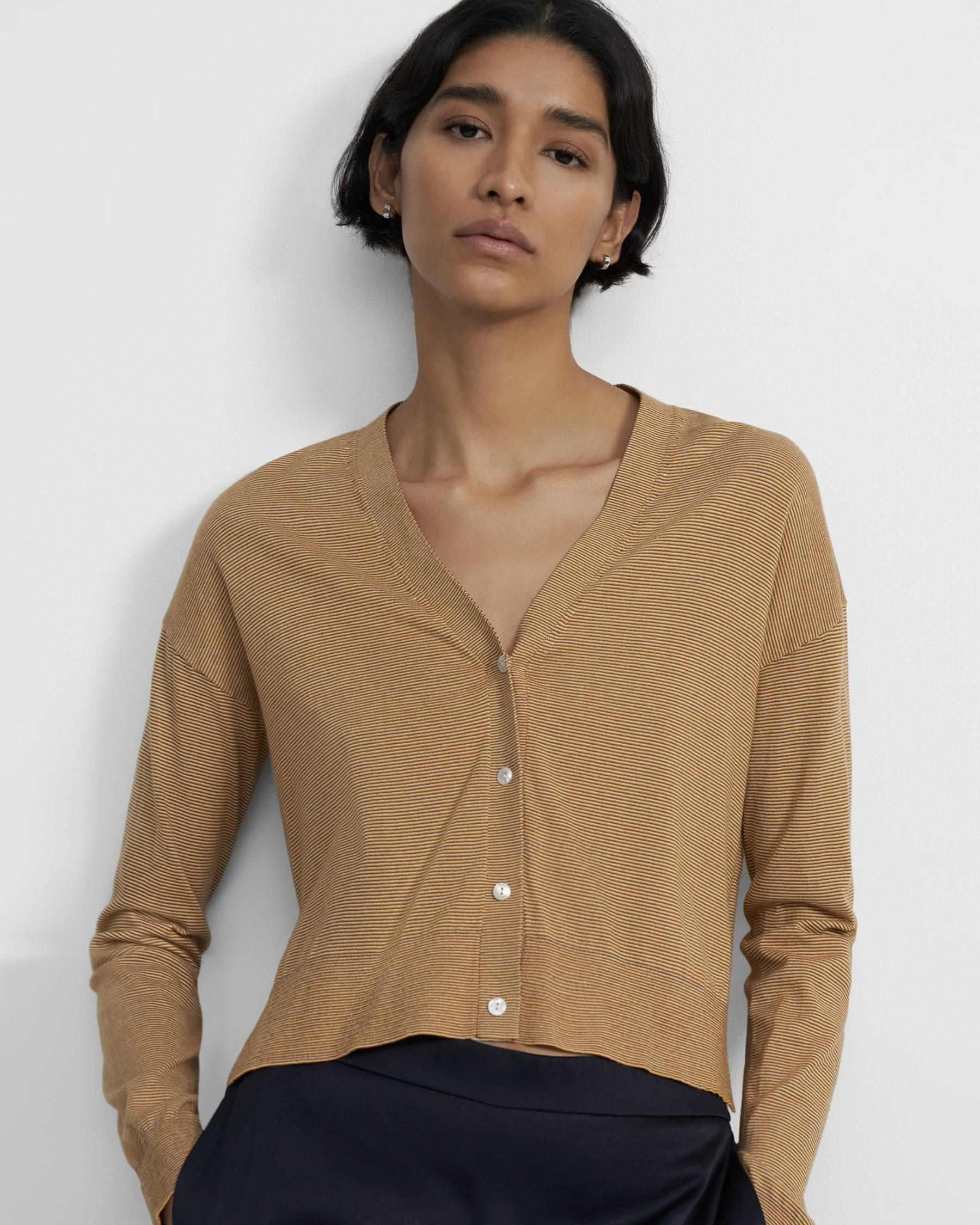 Cropped Cardigan in Cotton 0
