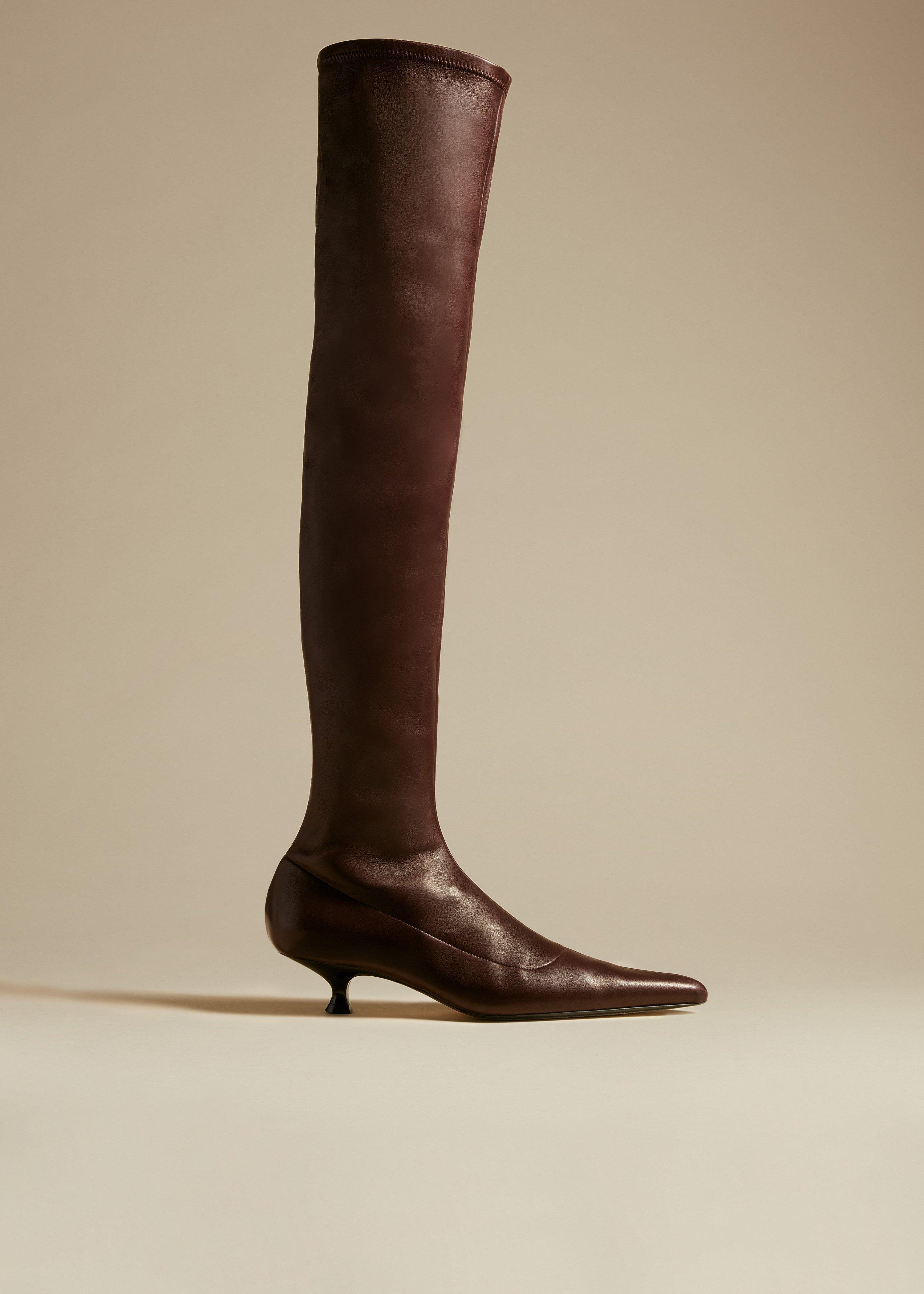 The Volos Over-the-Knee Boot in Bordeaux Leather