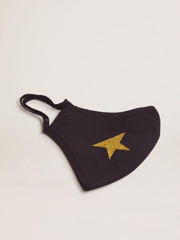 Black Golden face mask with gold star