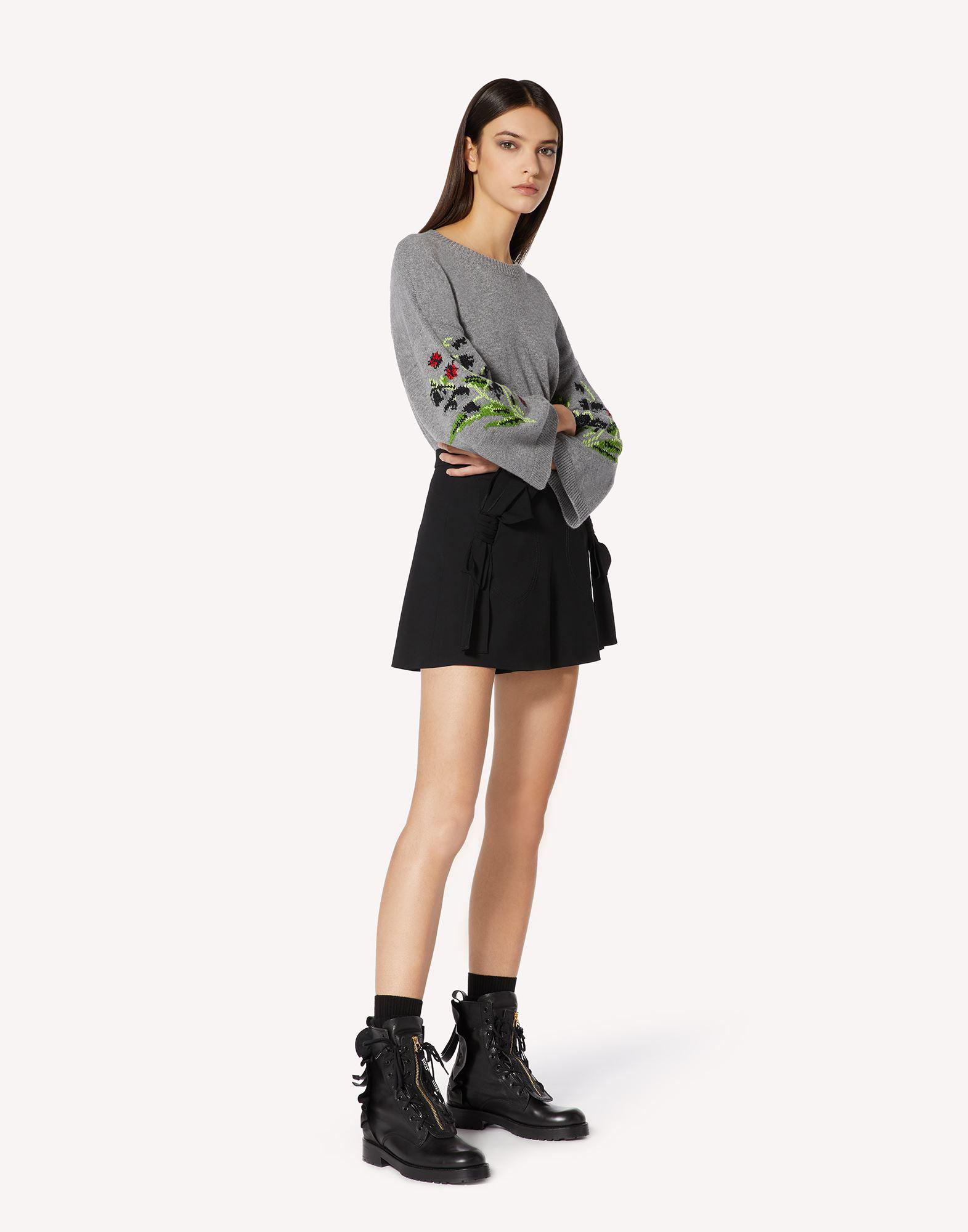 FLORAL JACQUARD WOOL-BLEND SWEATER 2